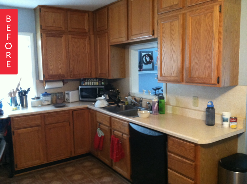 Before & After: A Fresh Kitchen Makeover For Under $500 ...