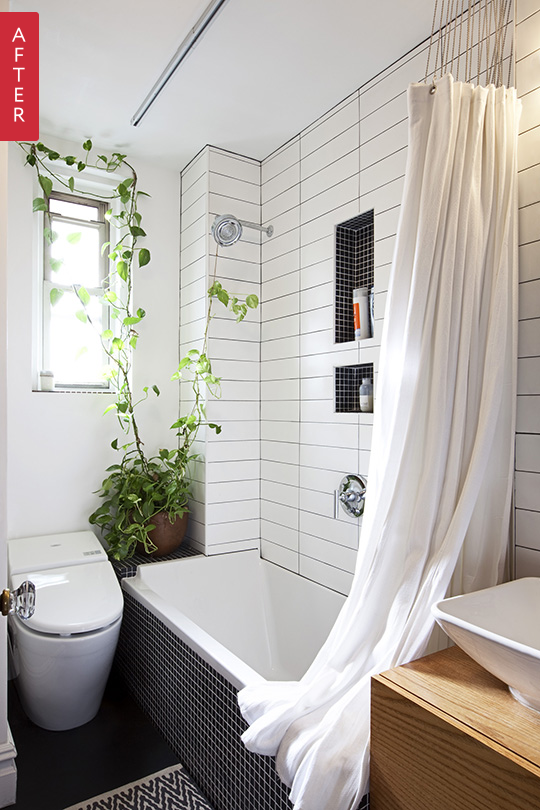 Before After A Manhattan Bath Gets Fresh New Look Apartment Therapy