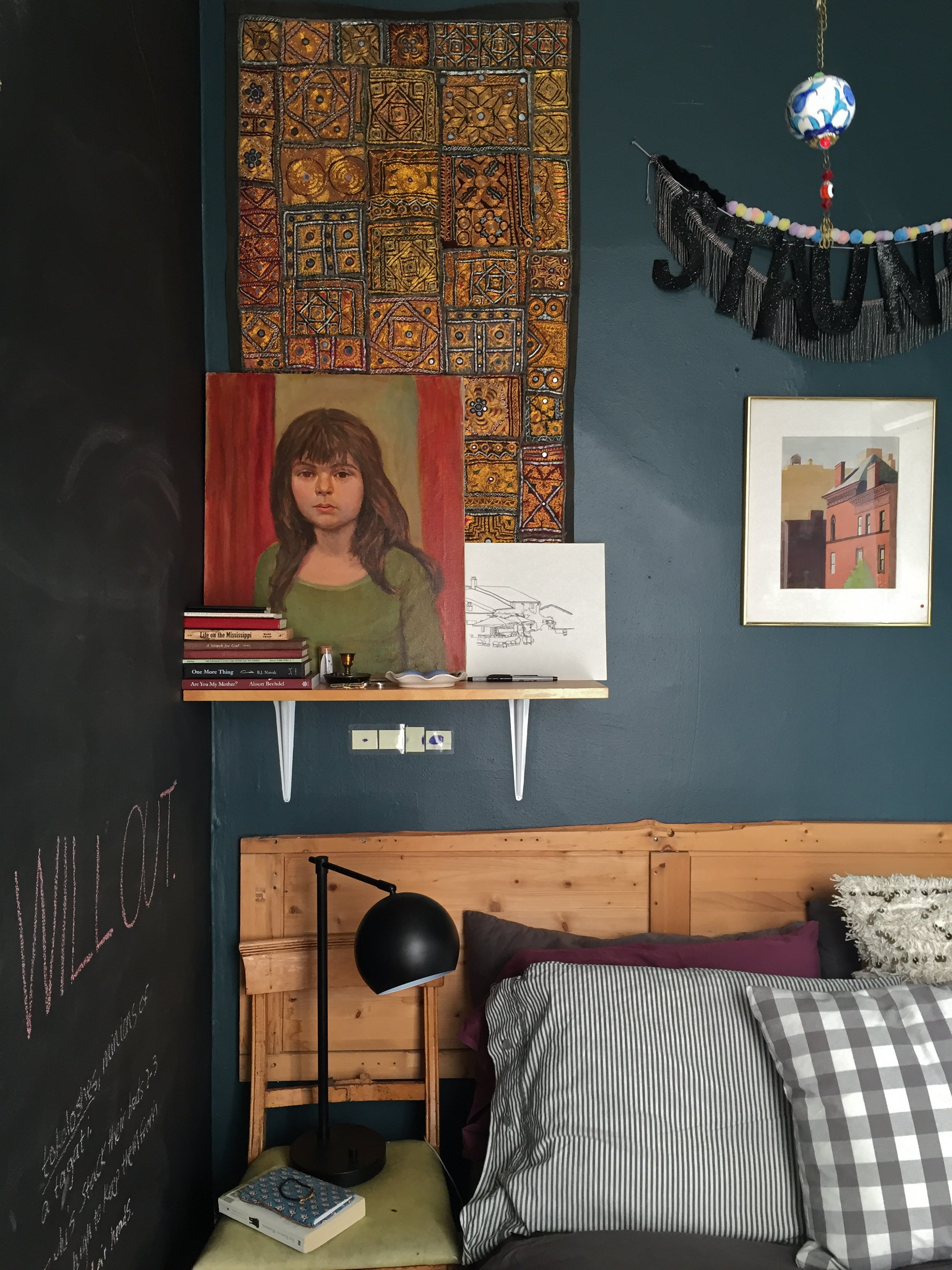 A Tiny Bold And Dark Blue Brooklyn Bedroom Apartment Therapy