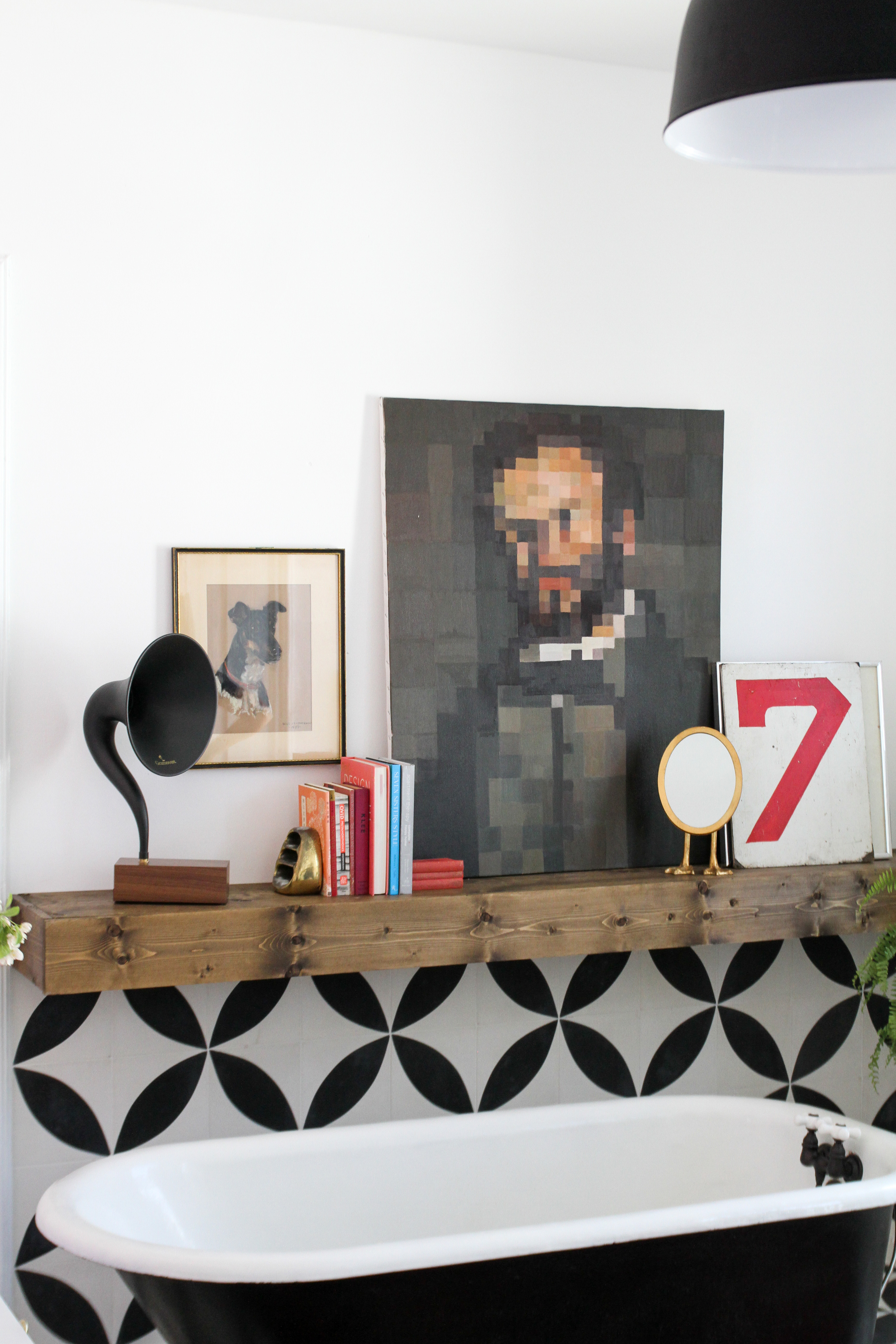 How To Build A Long Wood Floating Shelf Apartment Therapy