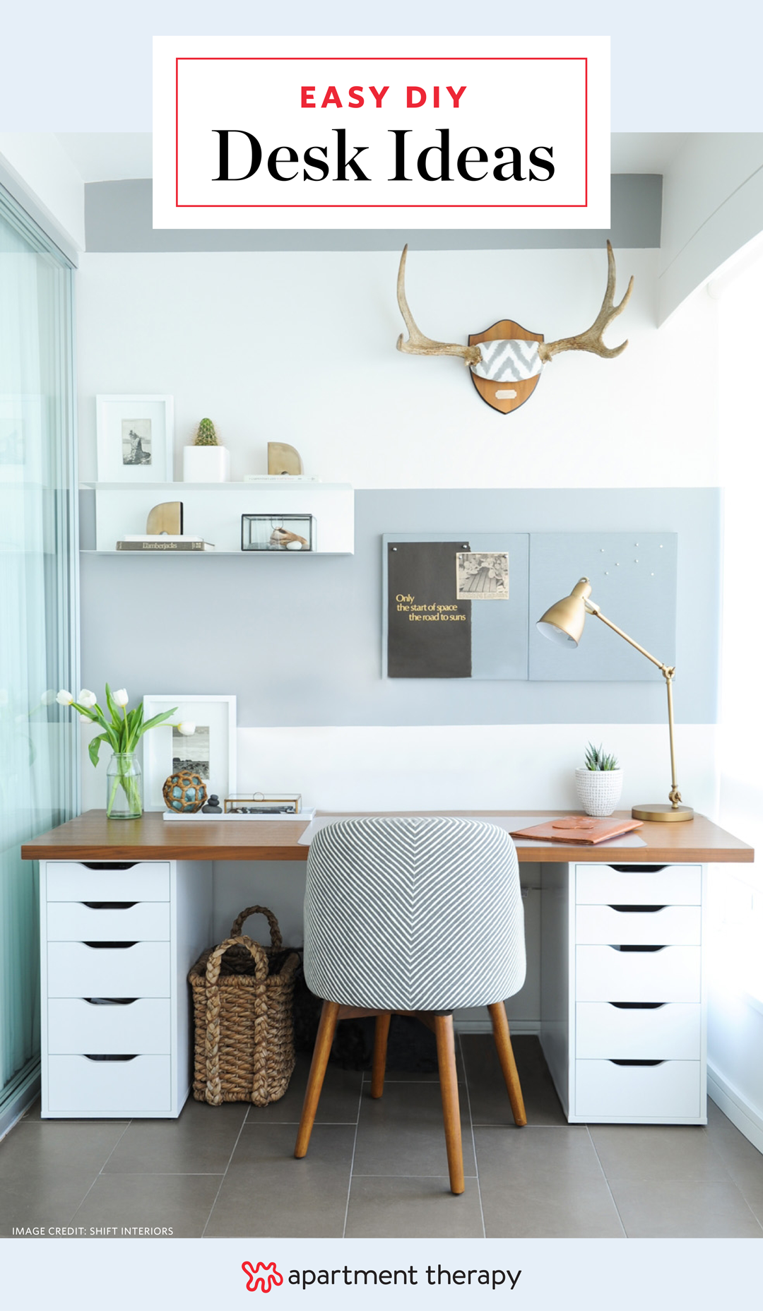 Quick Easy DIY Desk Ideas - Projects | Apartment Therapy