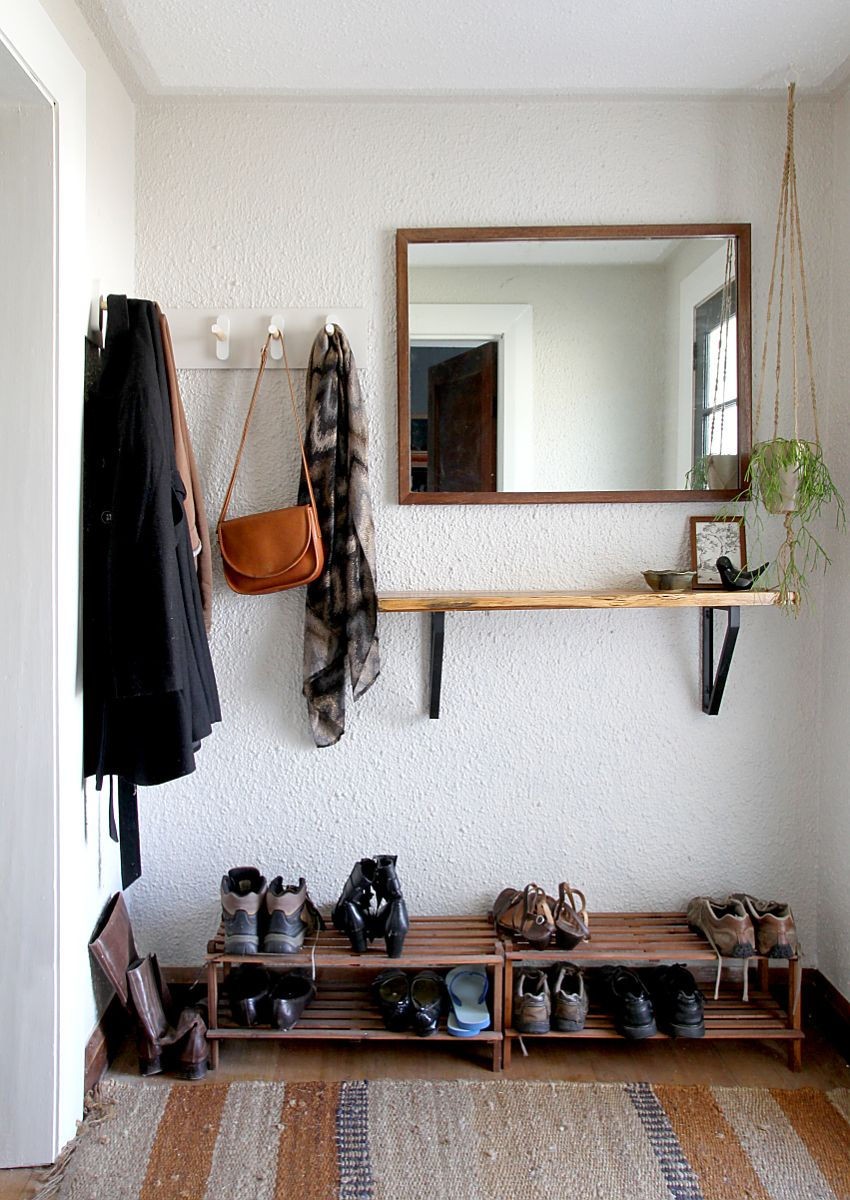 Entryways Without Closets Diy Storage Projects Ideas Apartment Therapy