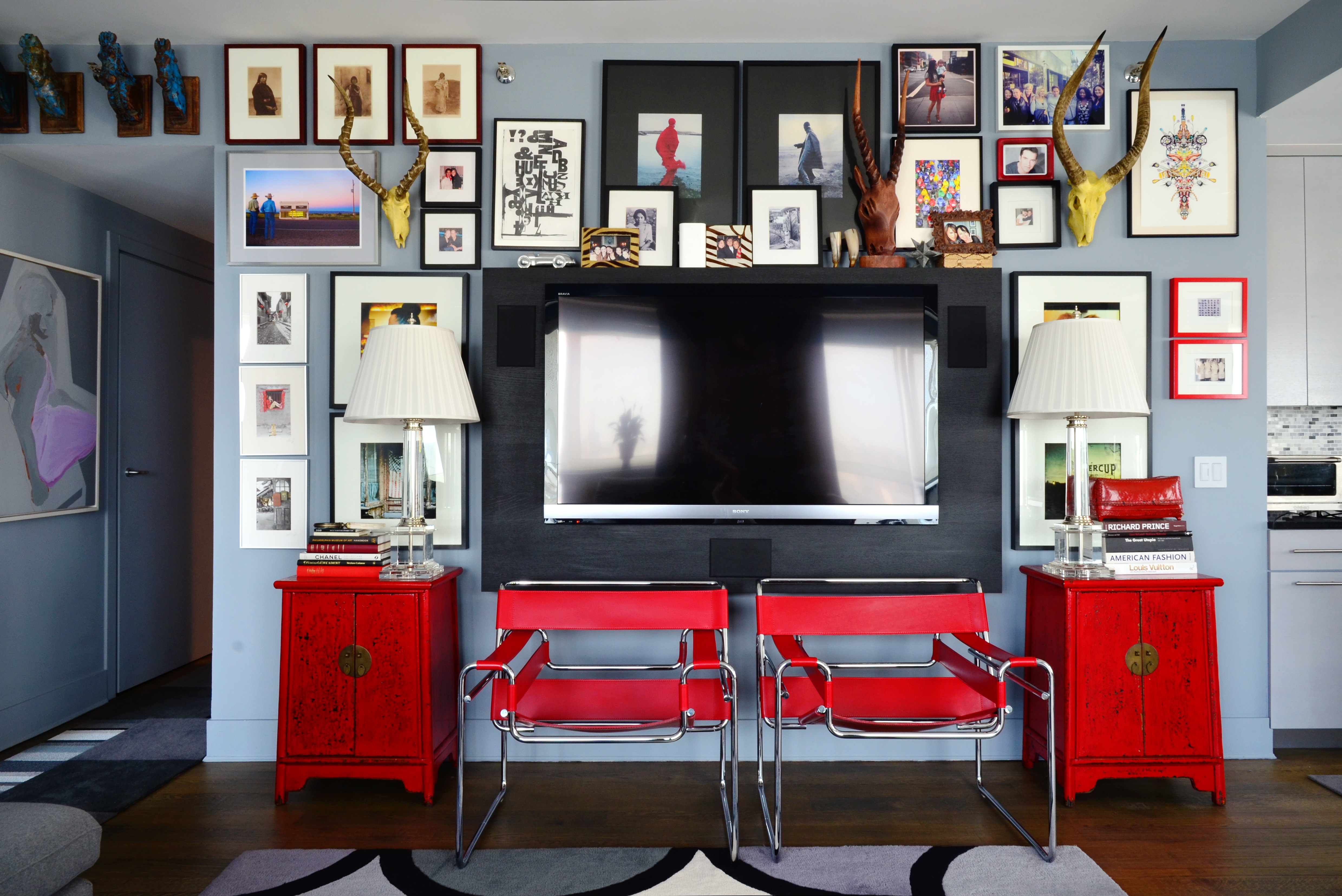 House Tour A Designer S Bold Gray Red Brooklyn Abode