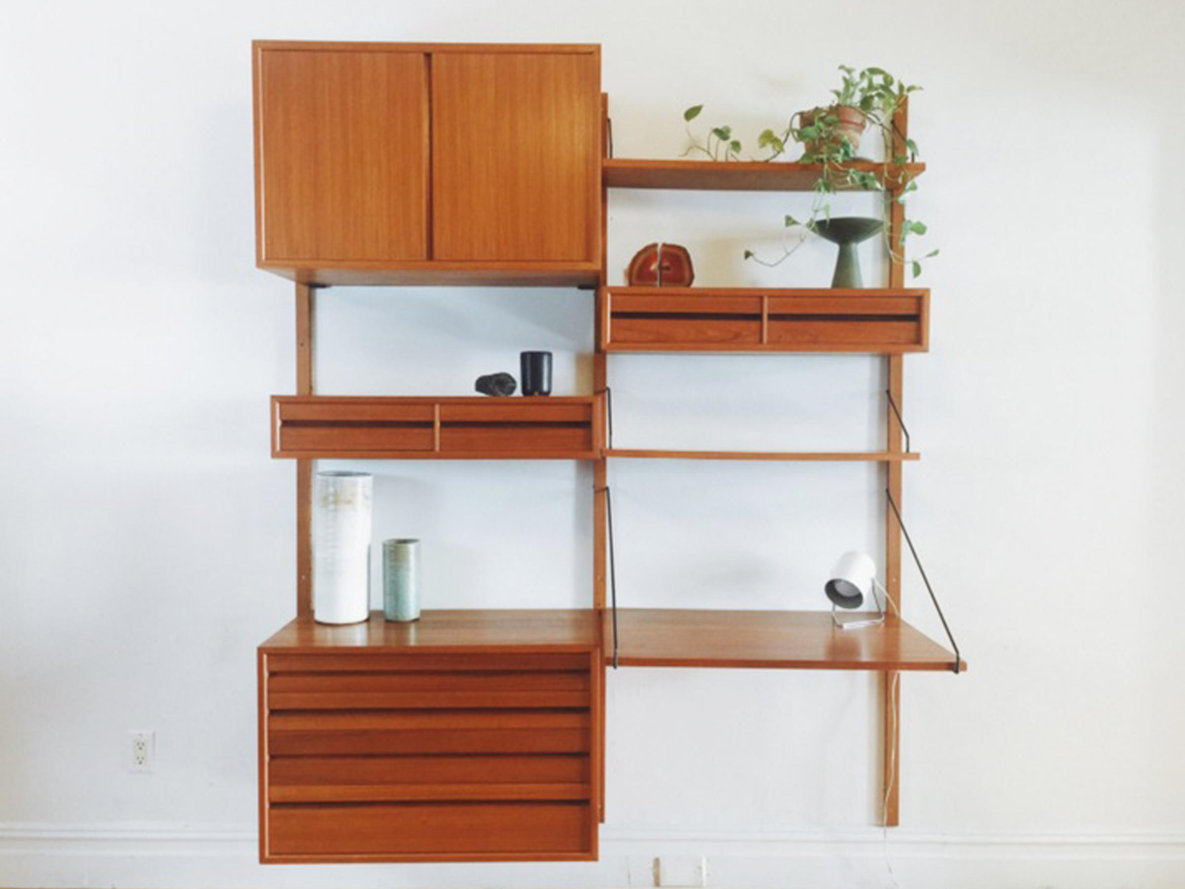 Image of: Vintage Mid Century Wall Units For Every Budget Apartment Therapy
