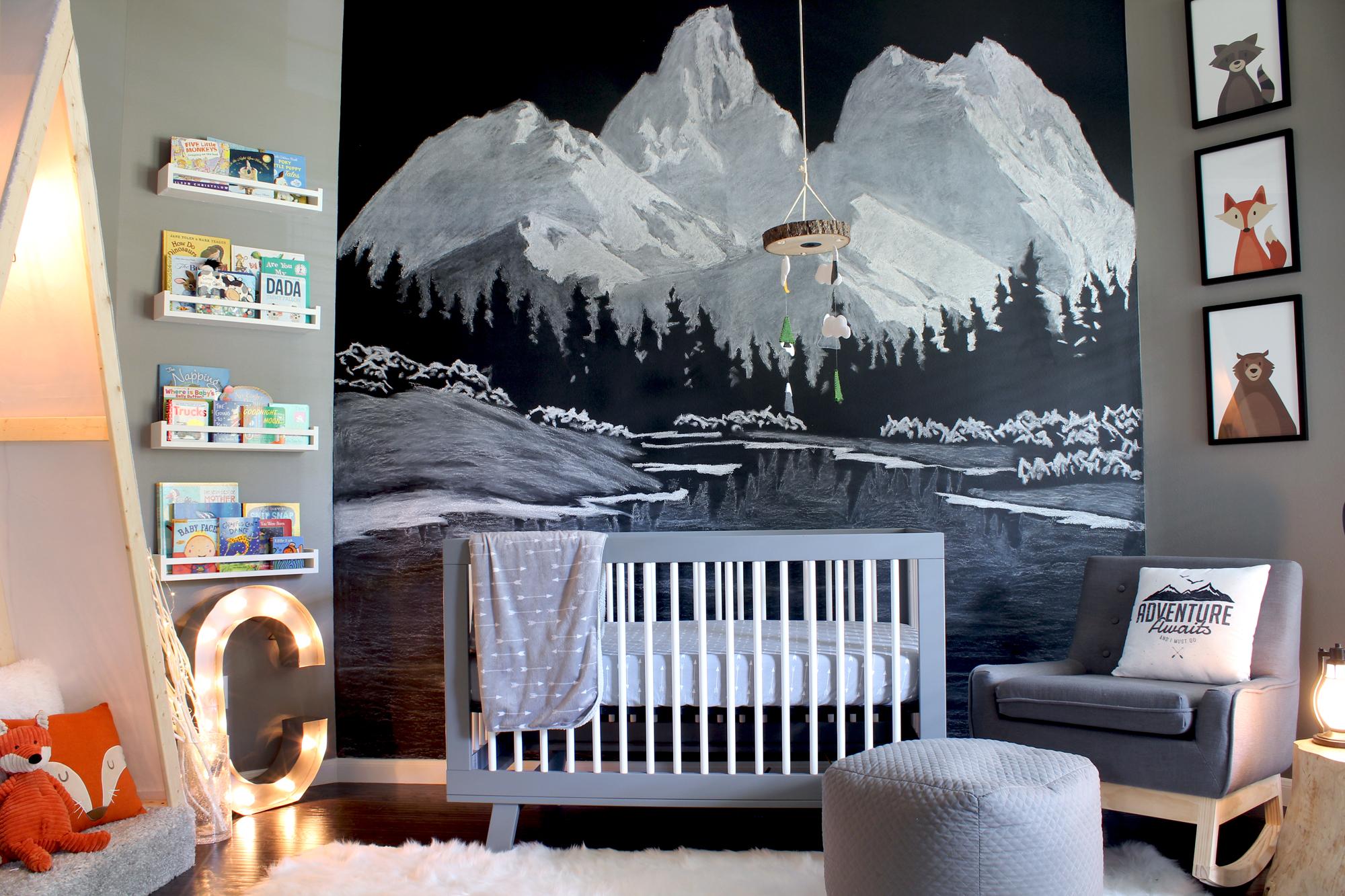 Chalkboard Paint Like You Ve Never Seen It Before A Magical Chalk Art Mountain Mural