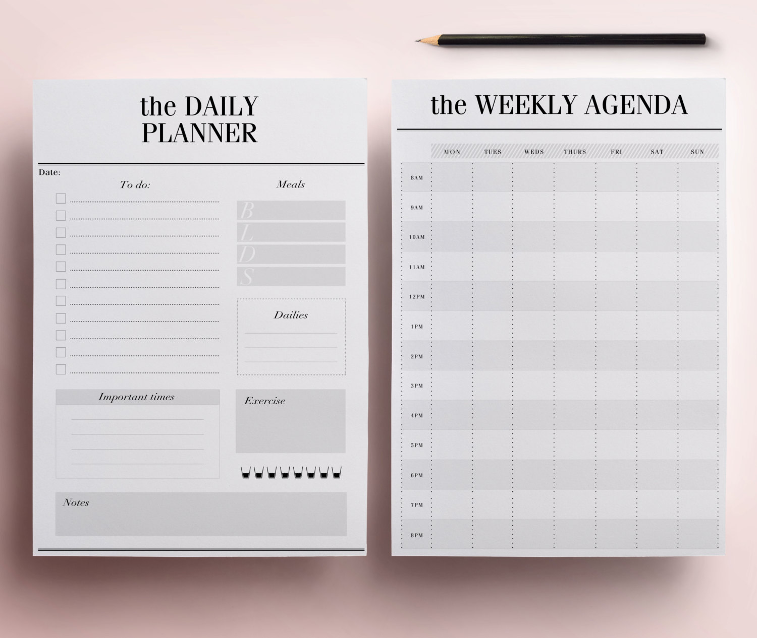 image relating to Daily Planner Page referred to as No Year for Bullet Journaling? 7 Day by day Planners toward Test