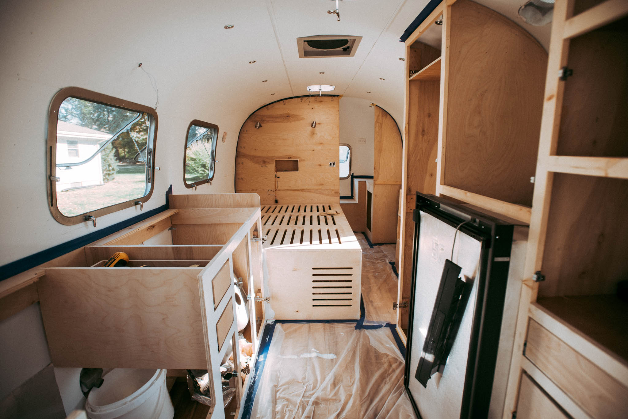 Before After Vintage Airstream Renovation Apartment Therapy