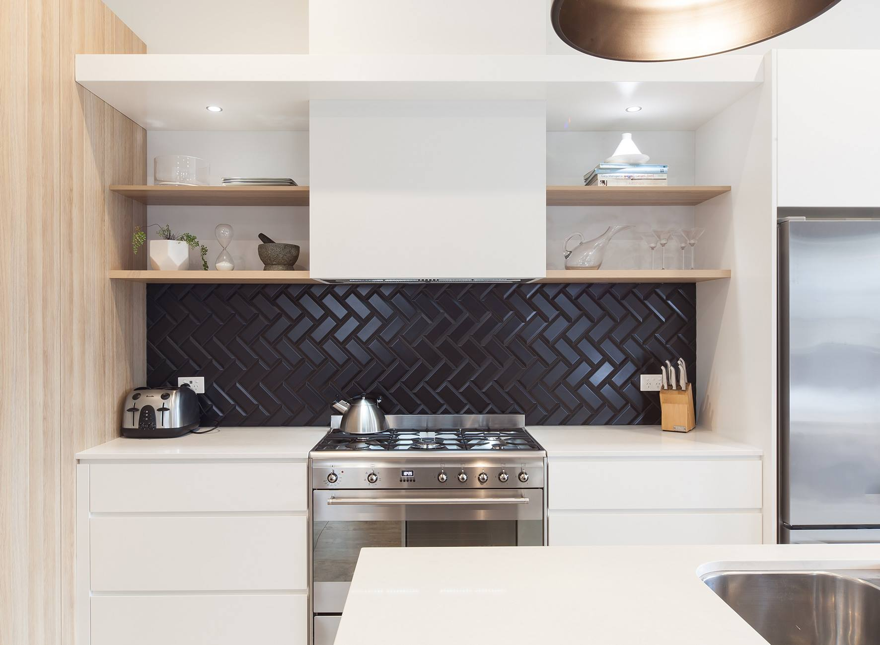 Kitchen Trend We Love: Black Tiles with Black Grout ...