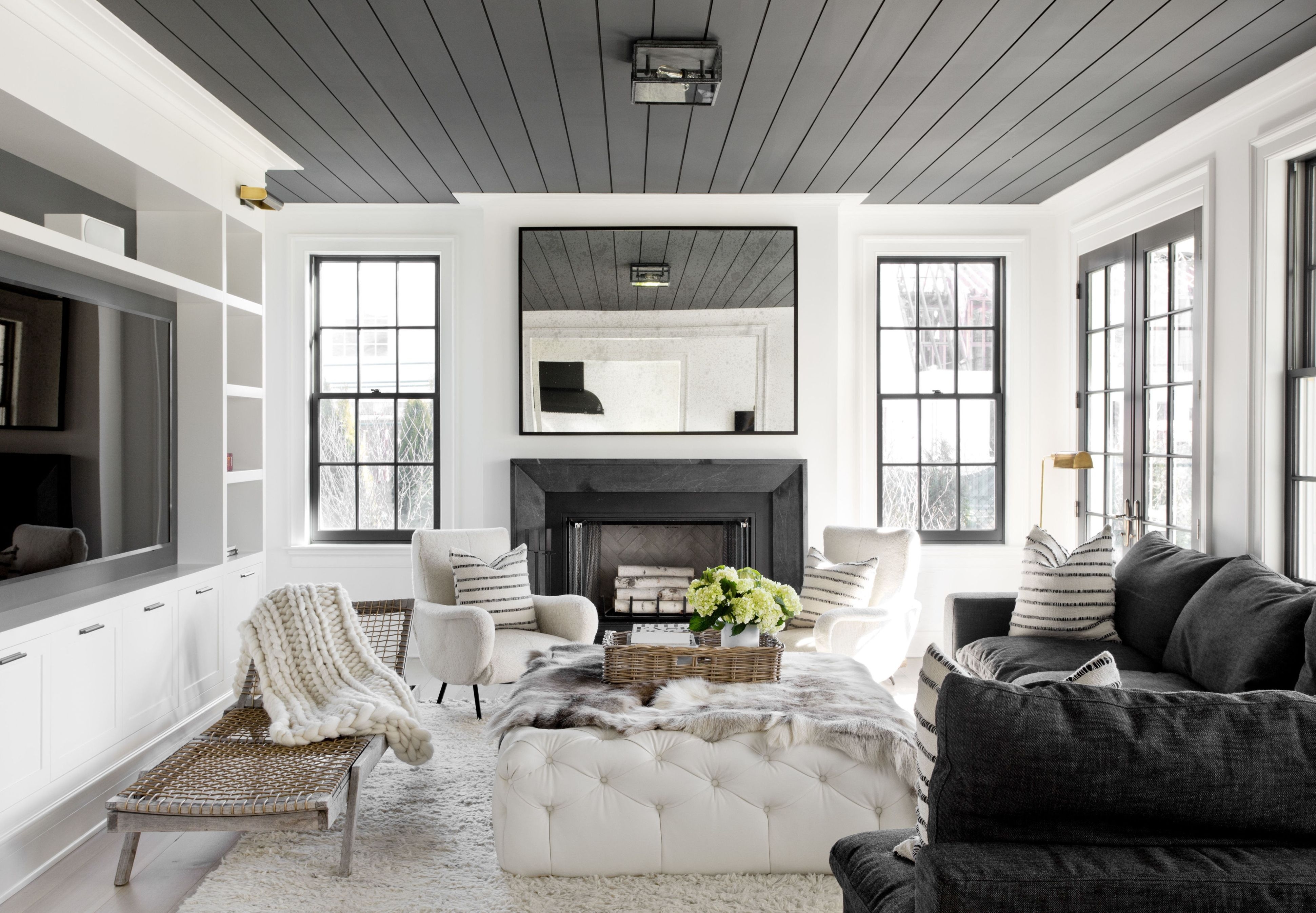 Shiplap Style Planks on the Ceiling: Look We Love