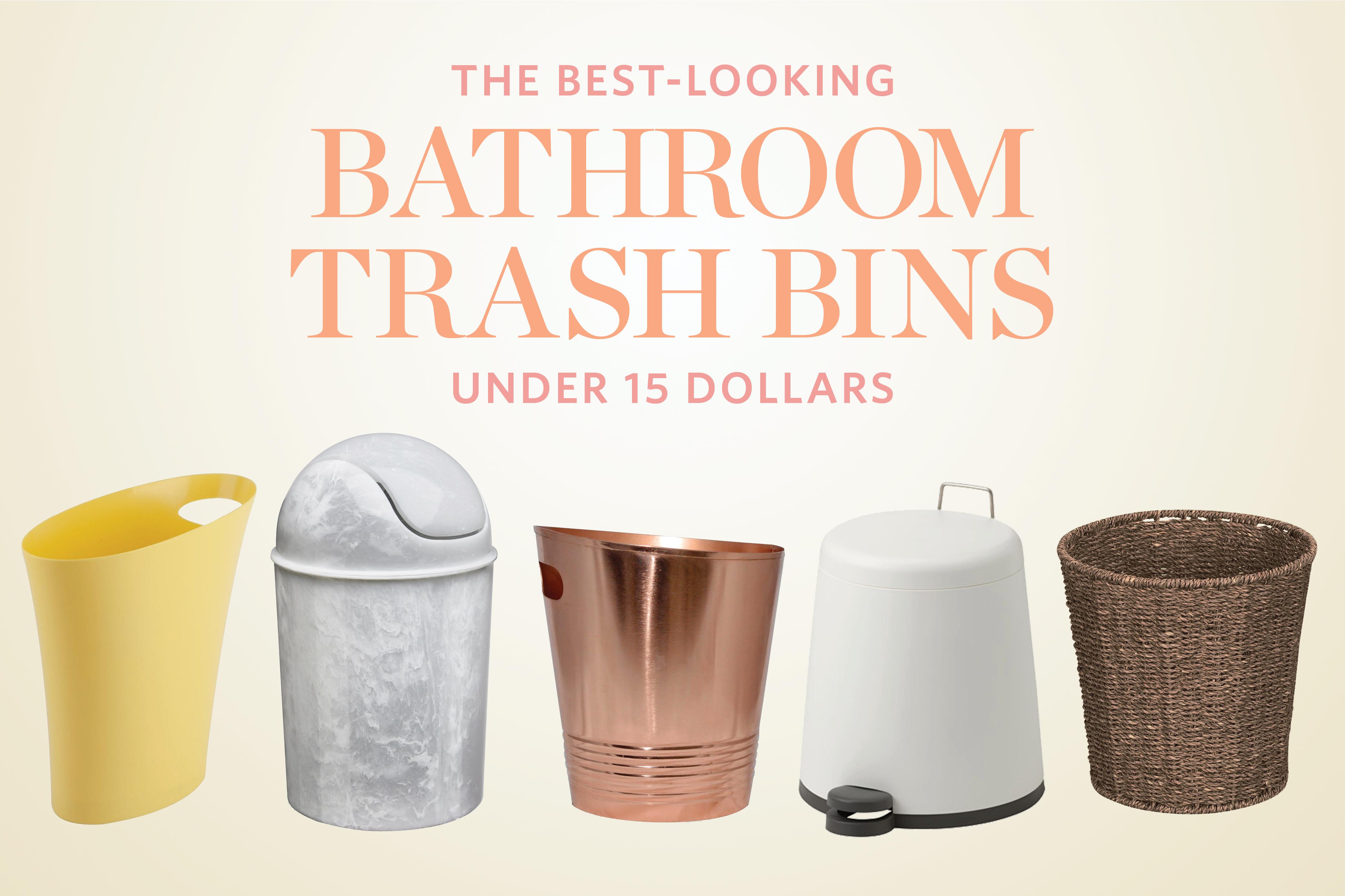 Stylish Small Bathroom Trash Cans For, Decorative Bathroom Trash Cans With Lids