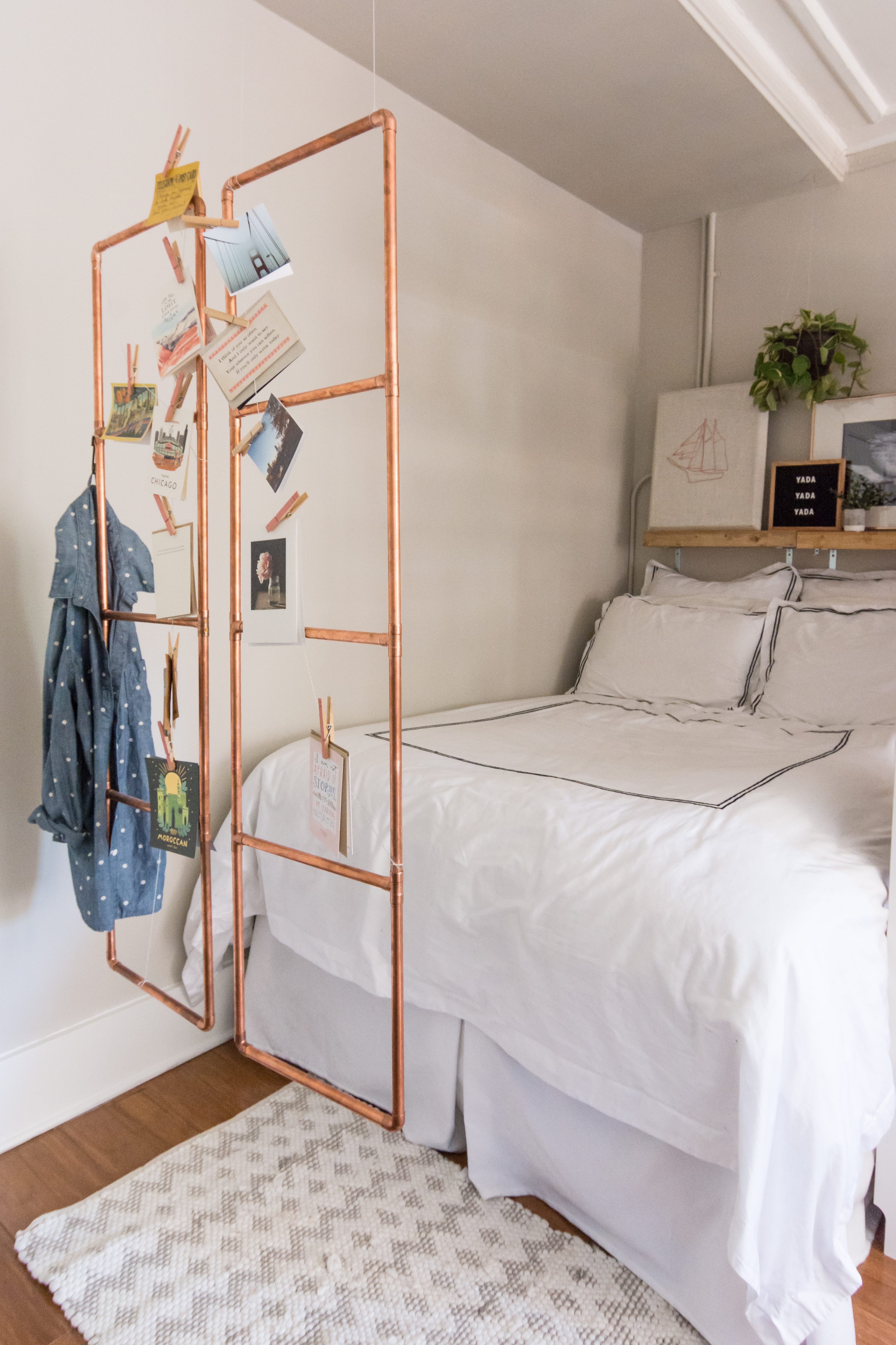 How To Make a Clever & Easy DIY Copper Room Divider ...