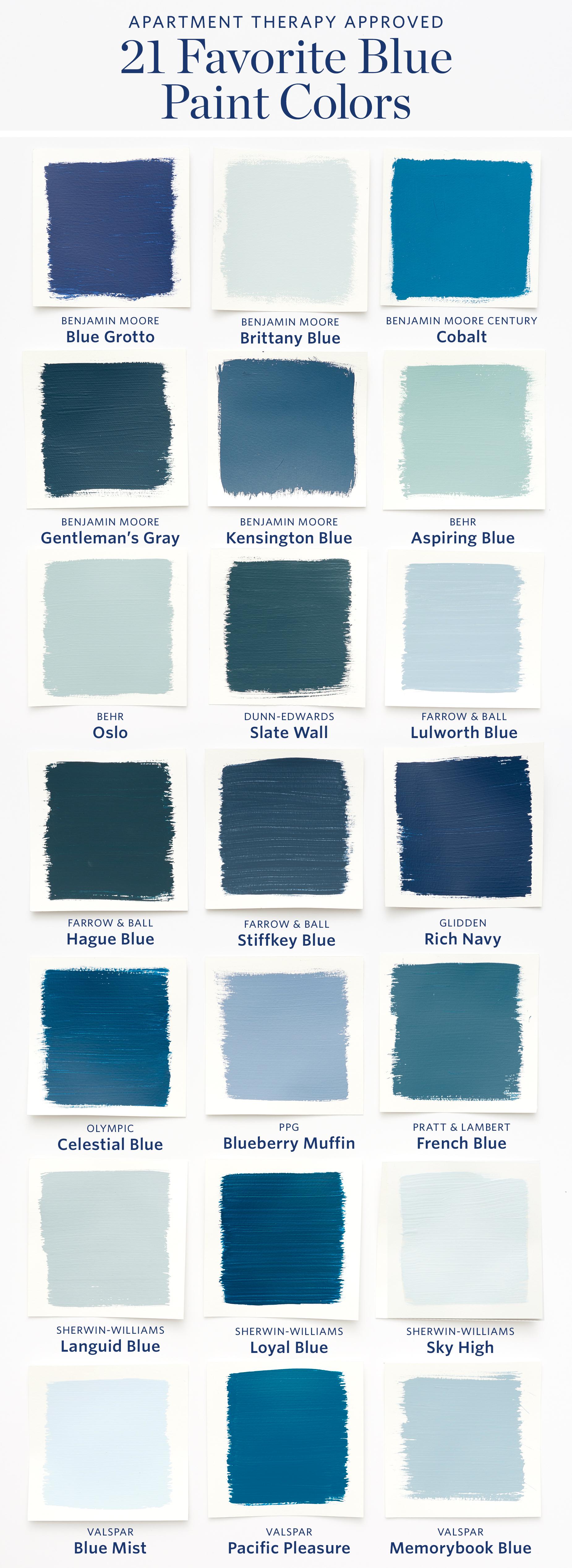 Color Cheat Sheet: The Best Blue Paint Colors | Apartment ...
