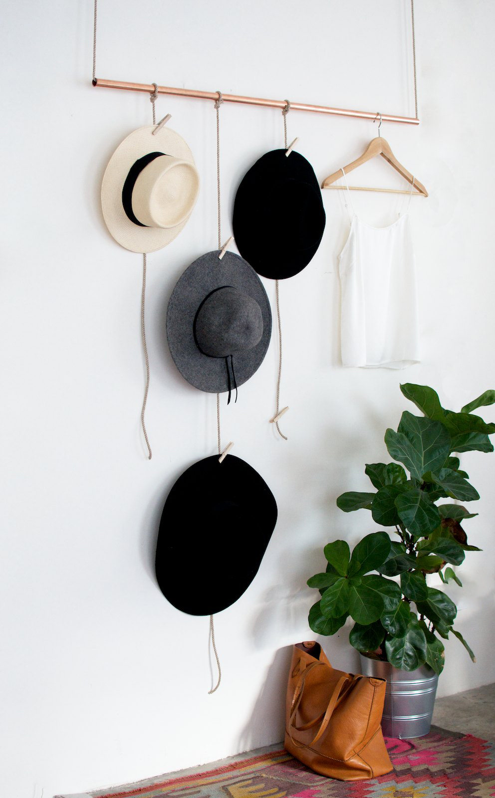 Ideas For Hanging Displaying Hats Apartment Therapy