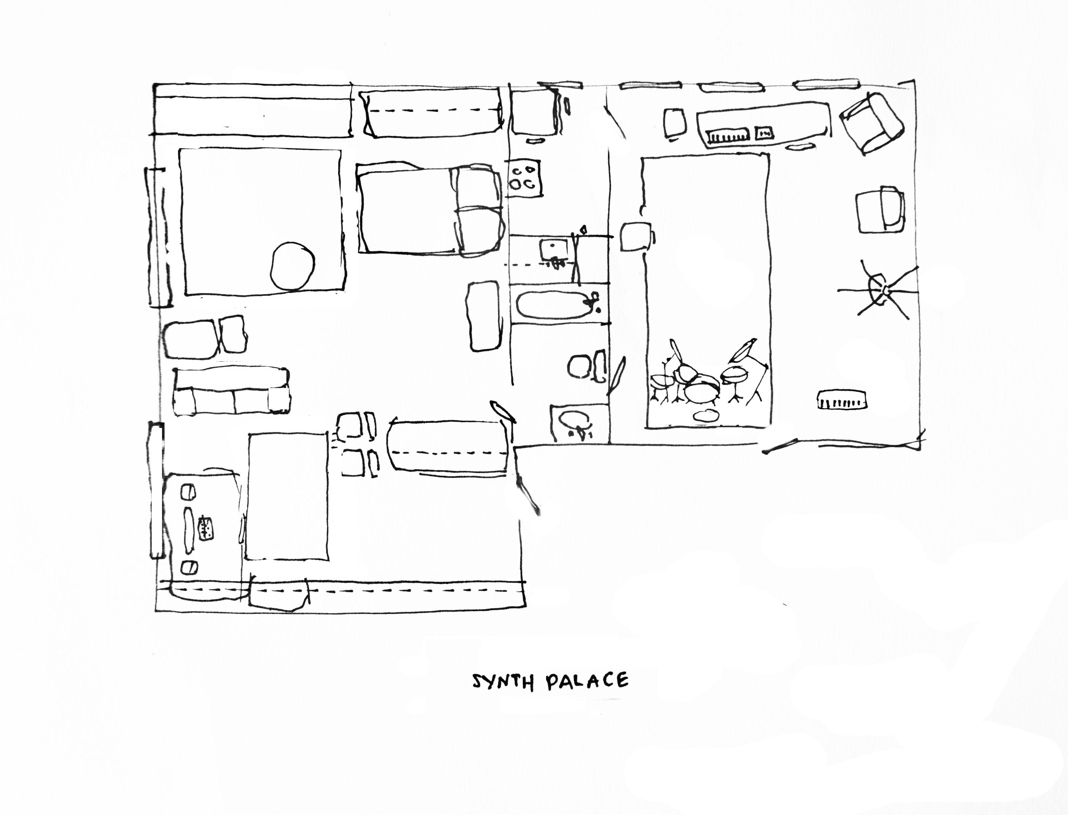 Pinks & Metallics Fill a Musician's Unconventional Apartment