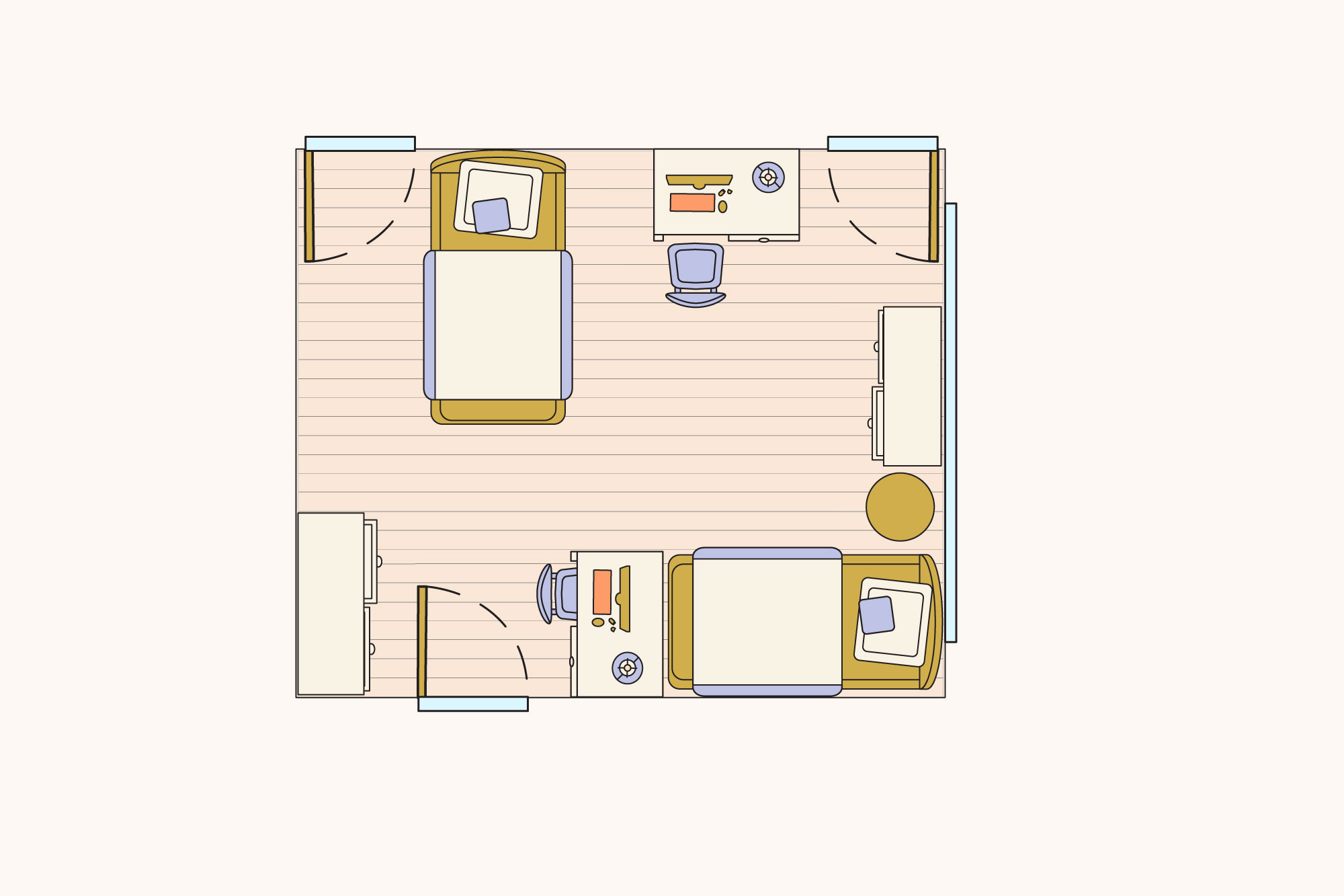 Picture of: Ideas For Laying Out Two Twin Beds In A Bedroom Apartment Therapy