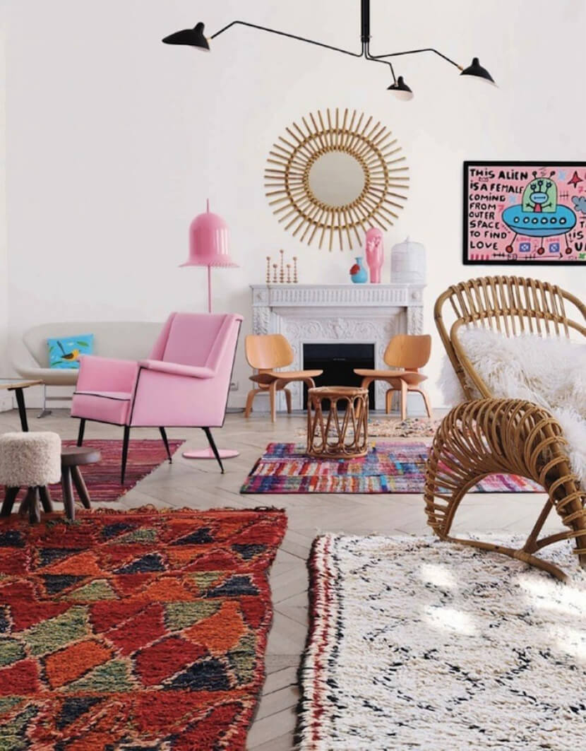 How To Skillfully Combine Multiple Rugs In A Room Apartment Therapy