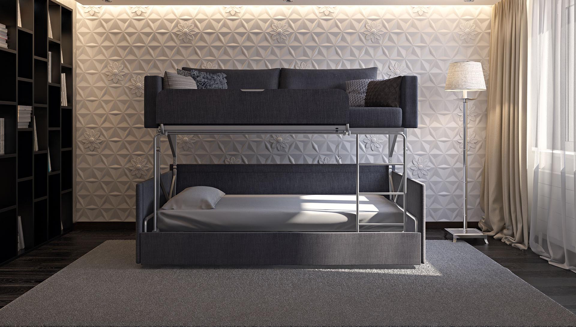 Fabulous This Sofa Converts To A Bunk Bed Small Space Dwellers Gmtry Best Dining Table And Chair Ideas Images Gmtryco