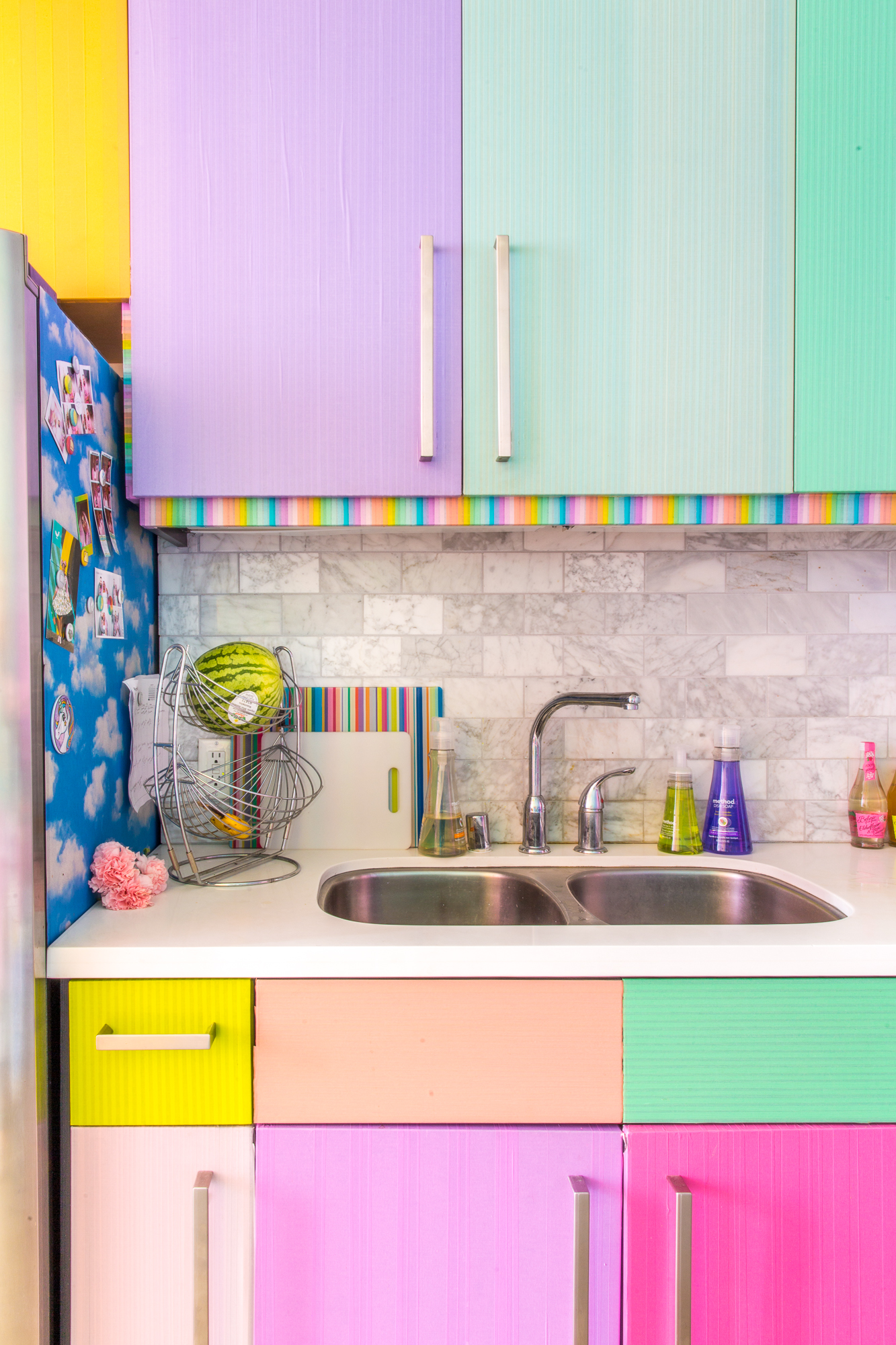Diy Washi Tape Kitchen Cabinet Costs Apartment Therapy