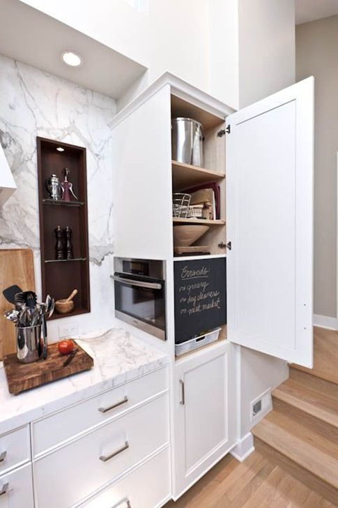 Microwaves In The Kitchen Hidden Storage Solutions