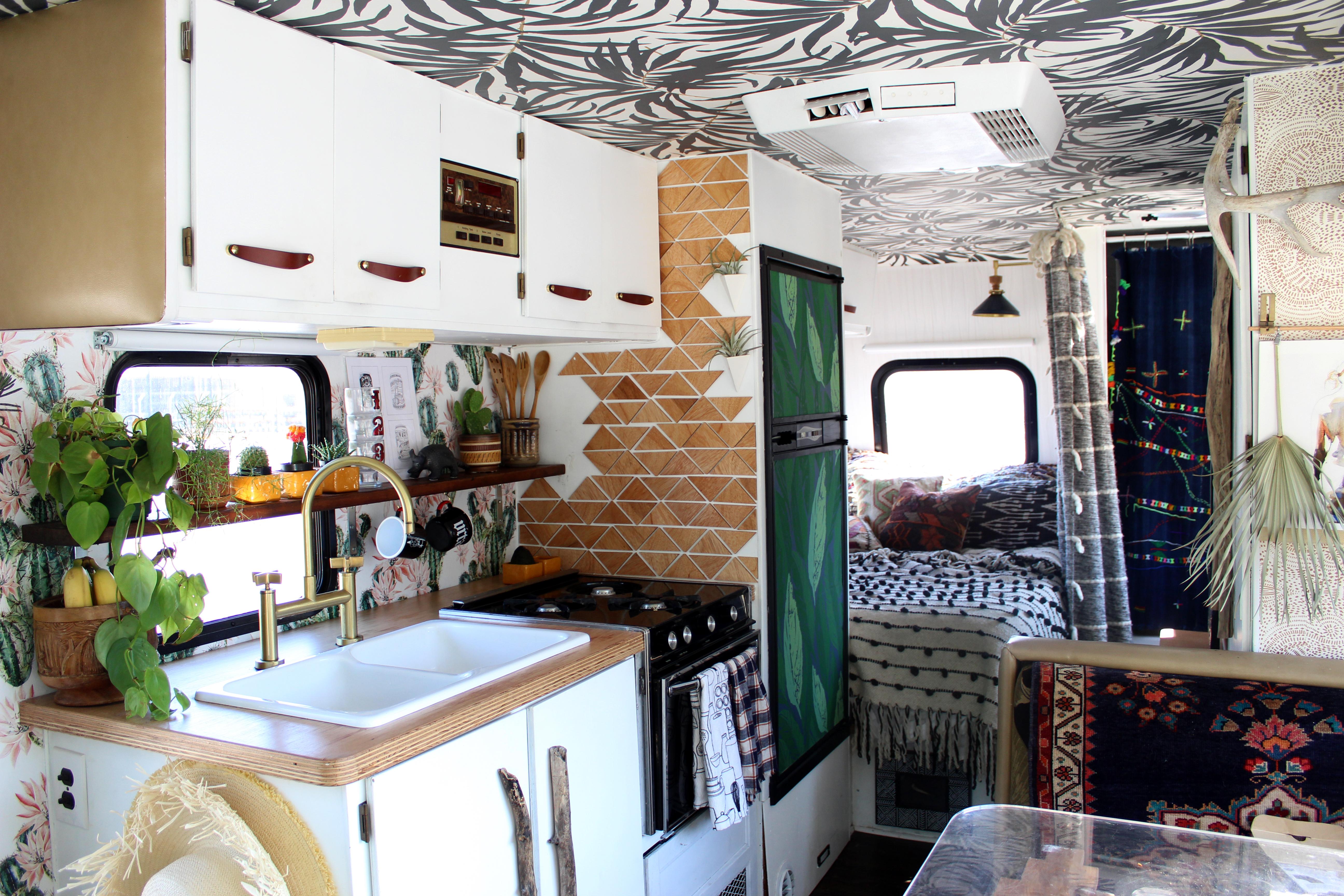 House Tour A Beautiful Boho Rv Reno Apartment Therapy