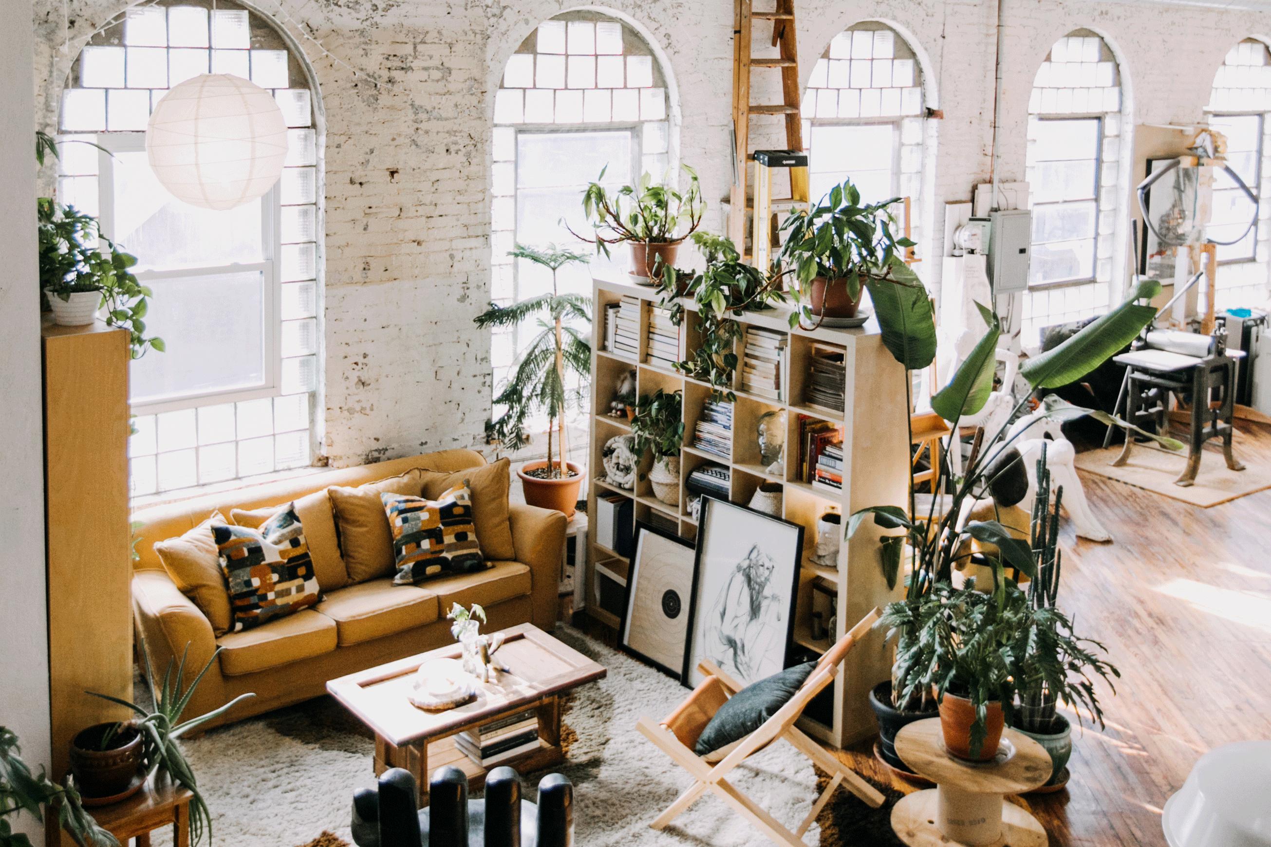 House Tour: A Loft Apartment in a Old Textile Factory ...