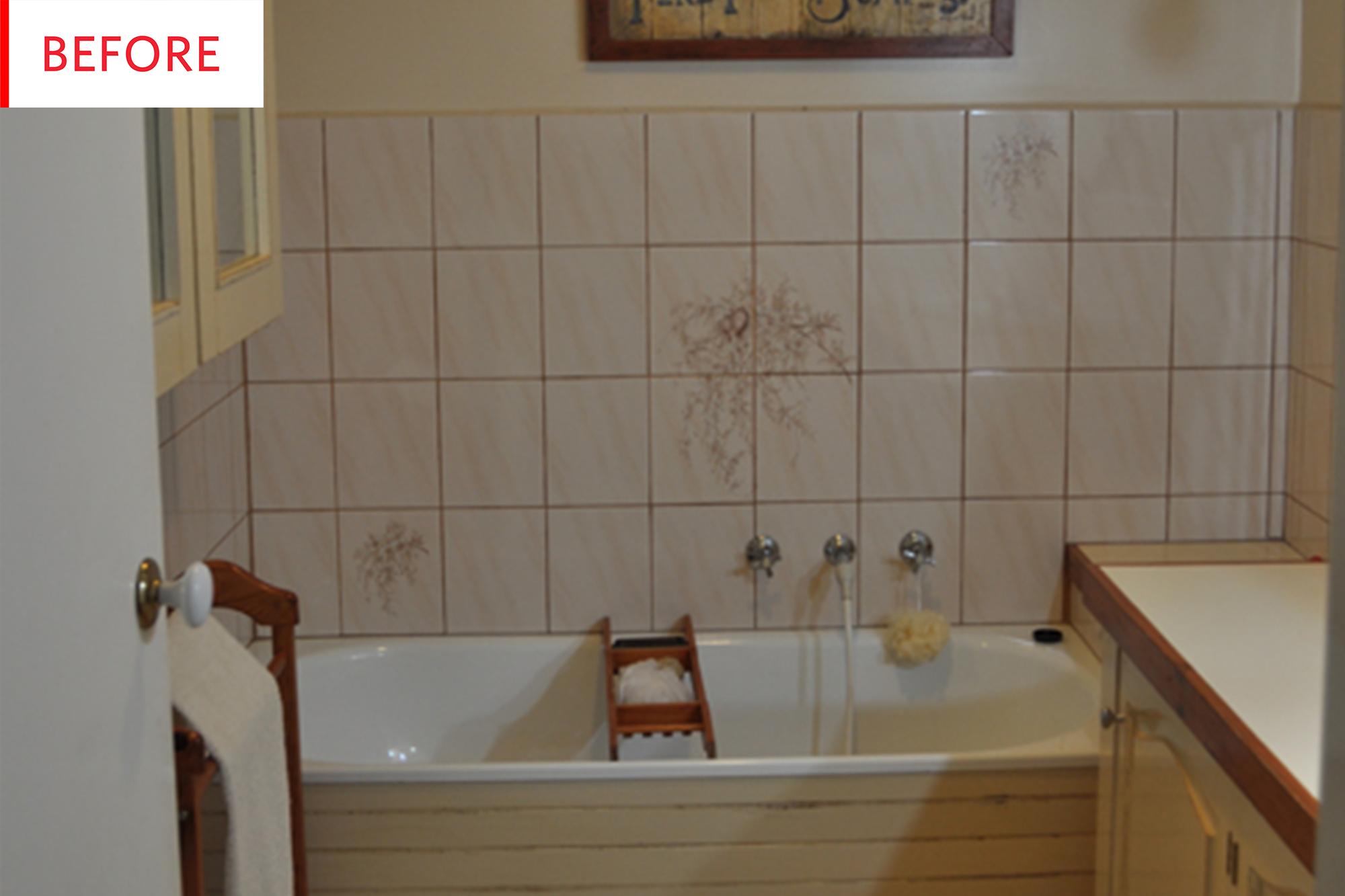 Fantastic Diy Bathroom Remodel Tile Paint Before After Apartment Interior Design Ideas Gentotryabchikinfo