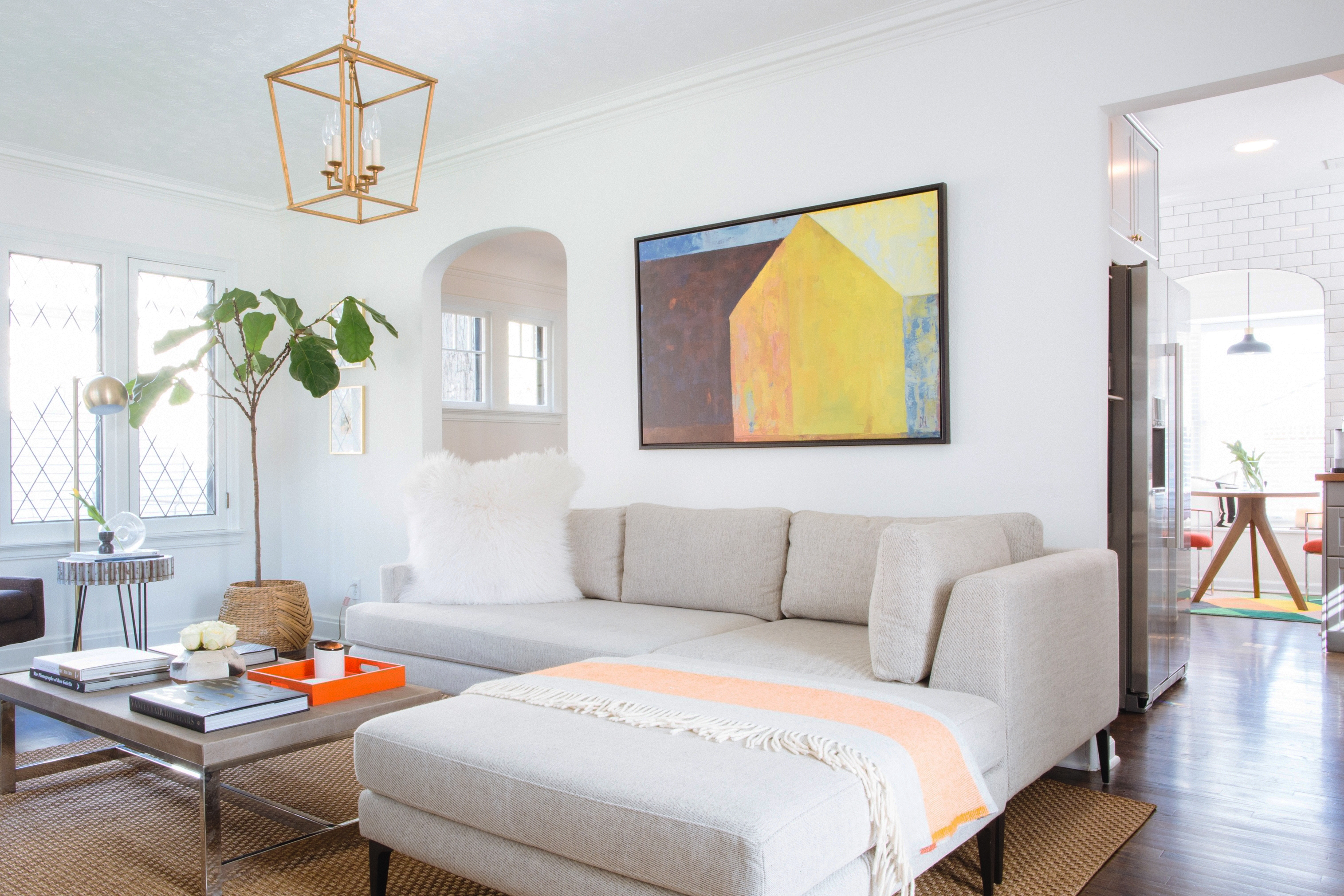 Art Sizing Rules Over Sofa 2 3 Golden Rule Apartment Therapy