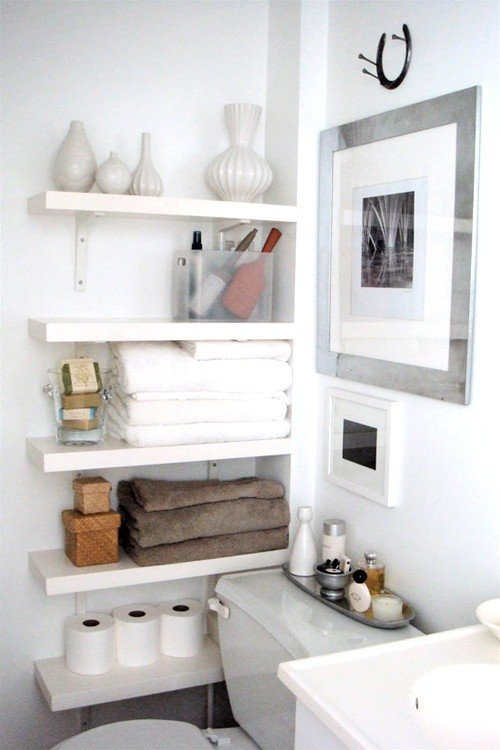 best website a7999 1c91d Small Bathroom Best Wall Shelves Storage Ideas | Apartment ...
