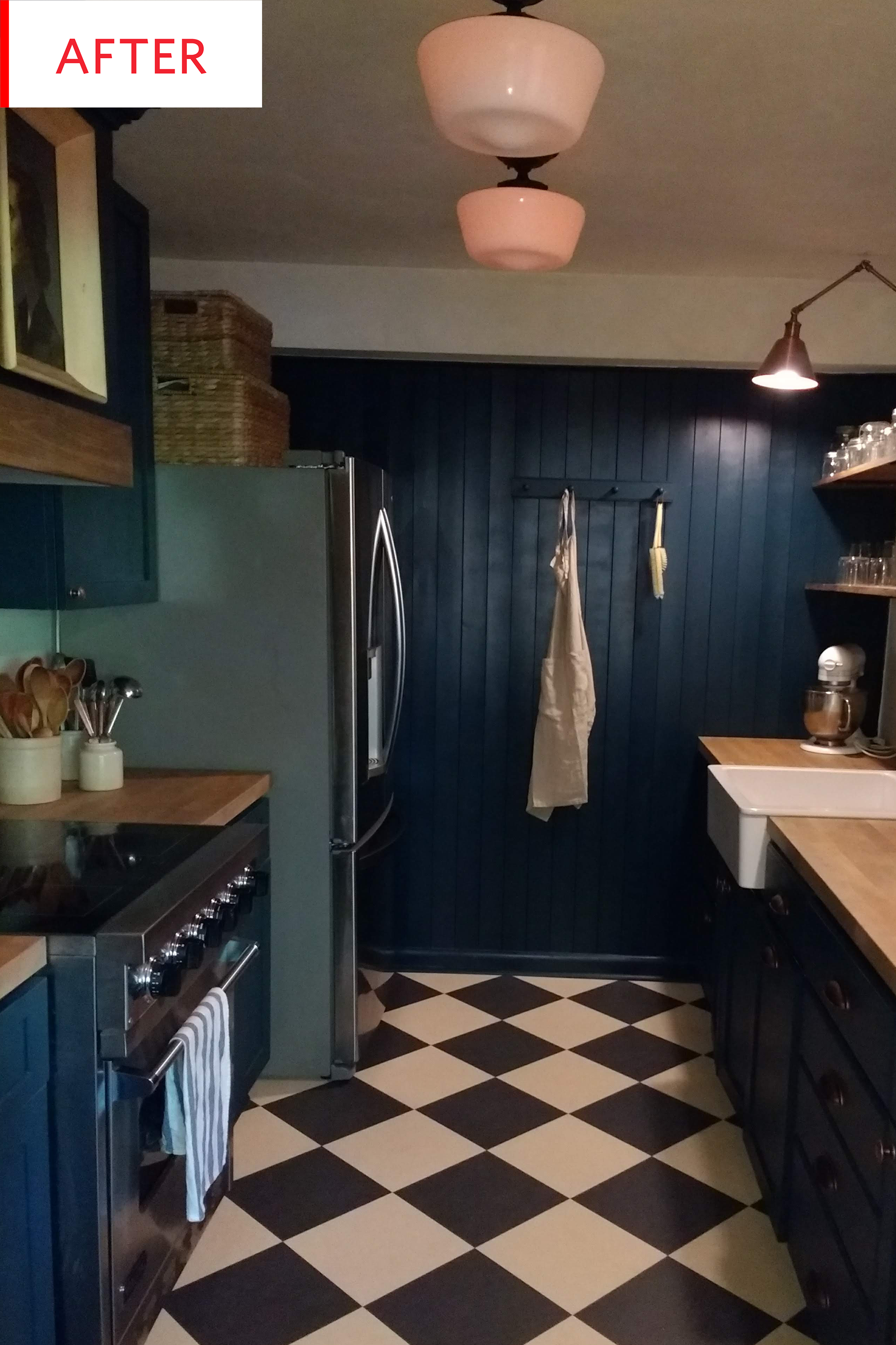Farrow And Ball Blue Kitchen Cabinets Before After Apartment Therapy