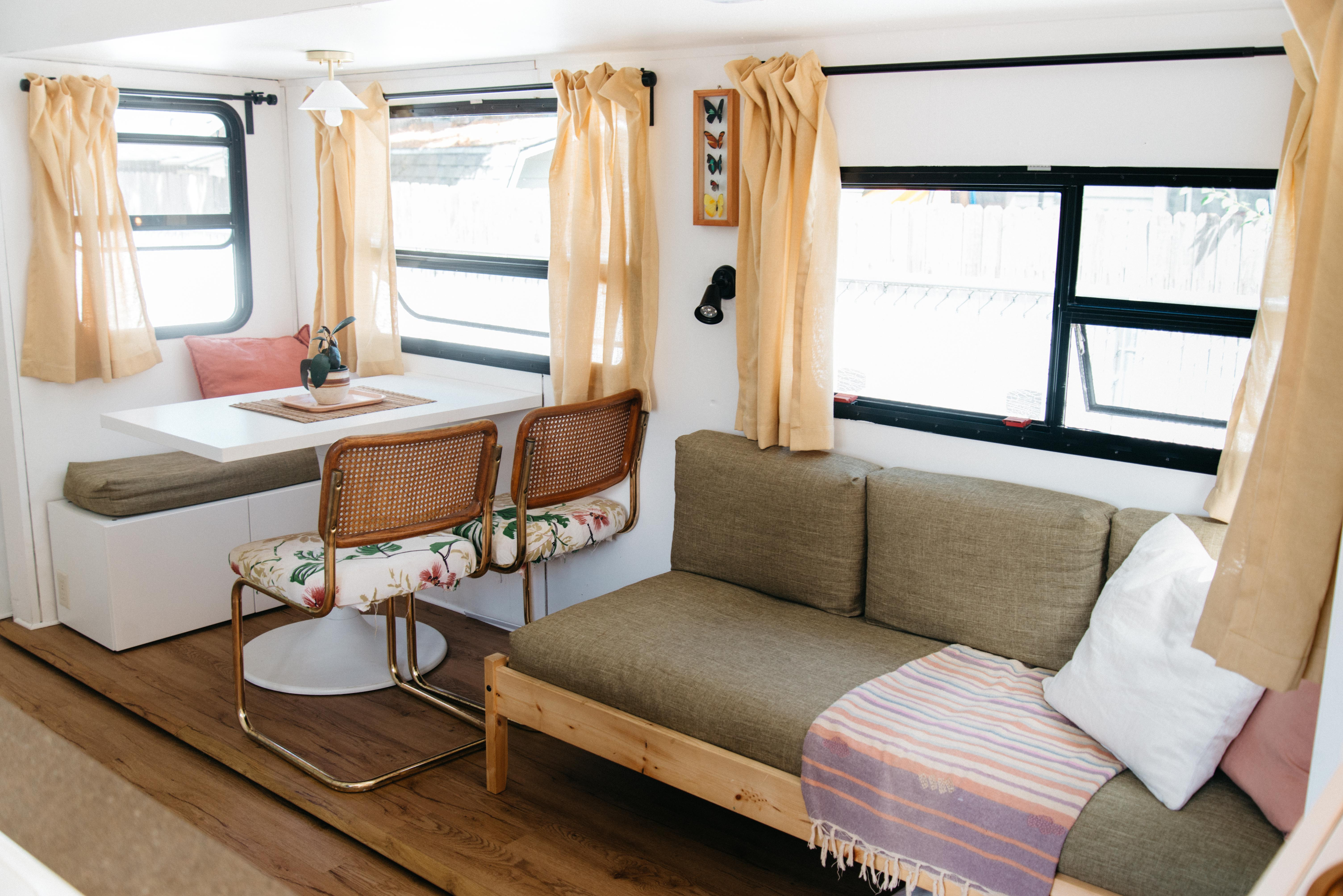 Tour A Tiny Home Rv Remodeled Fifth Wheel Trailer