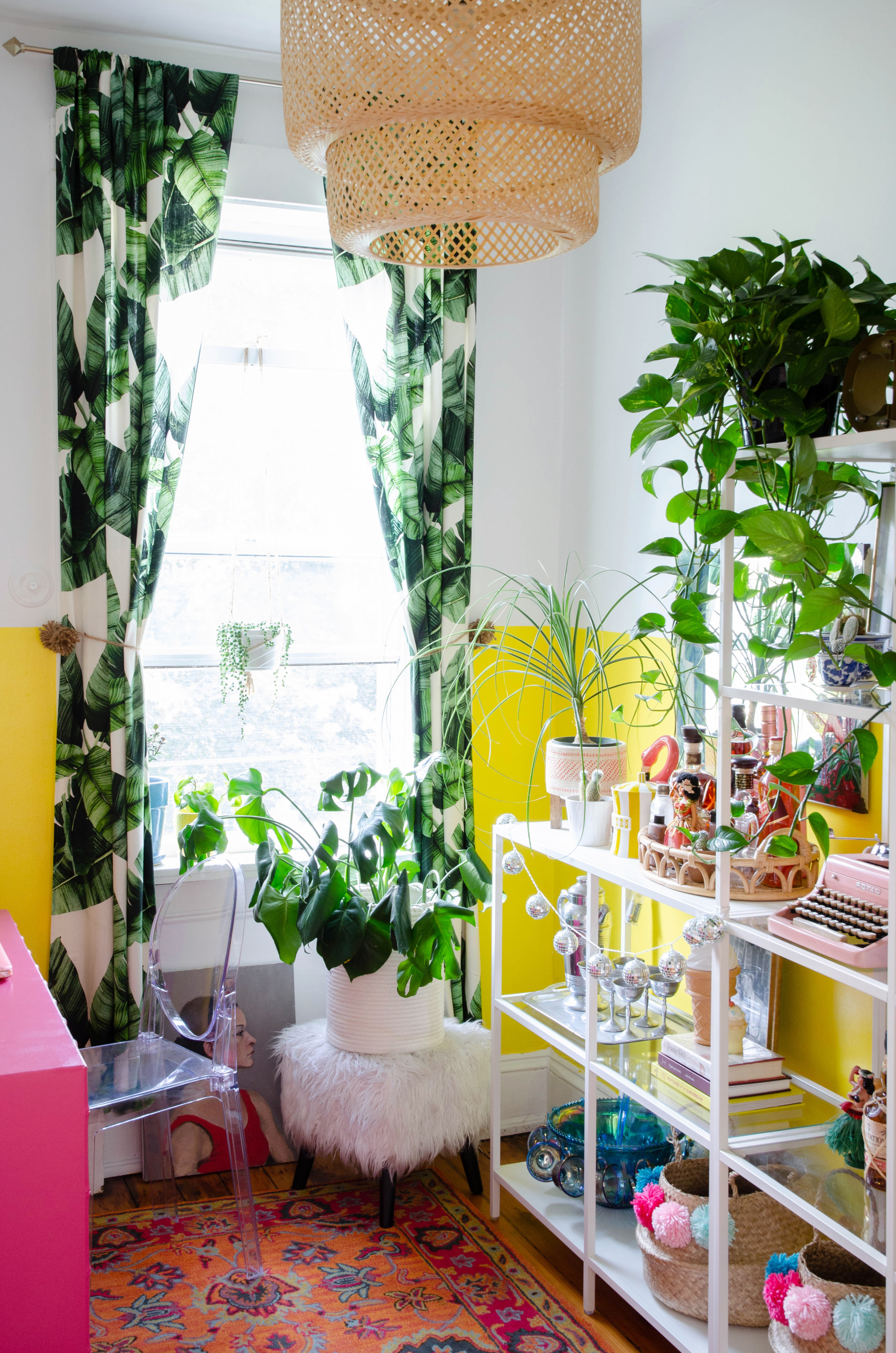 Tour Cocktail Blogger Arsenic Lace's Colorful Home