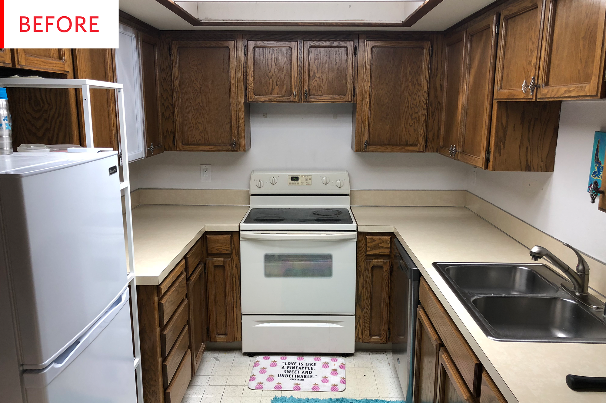 Budget DIY Kitchen Remodel - Before After Photos | Apartment ...