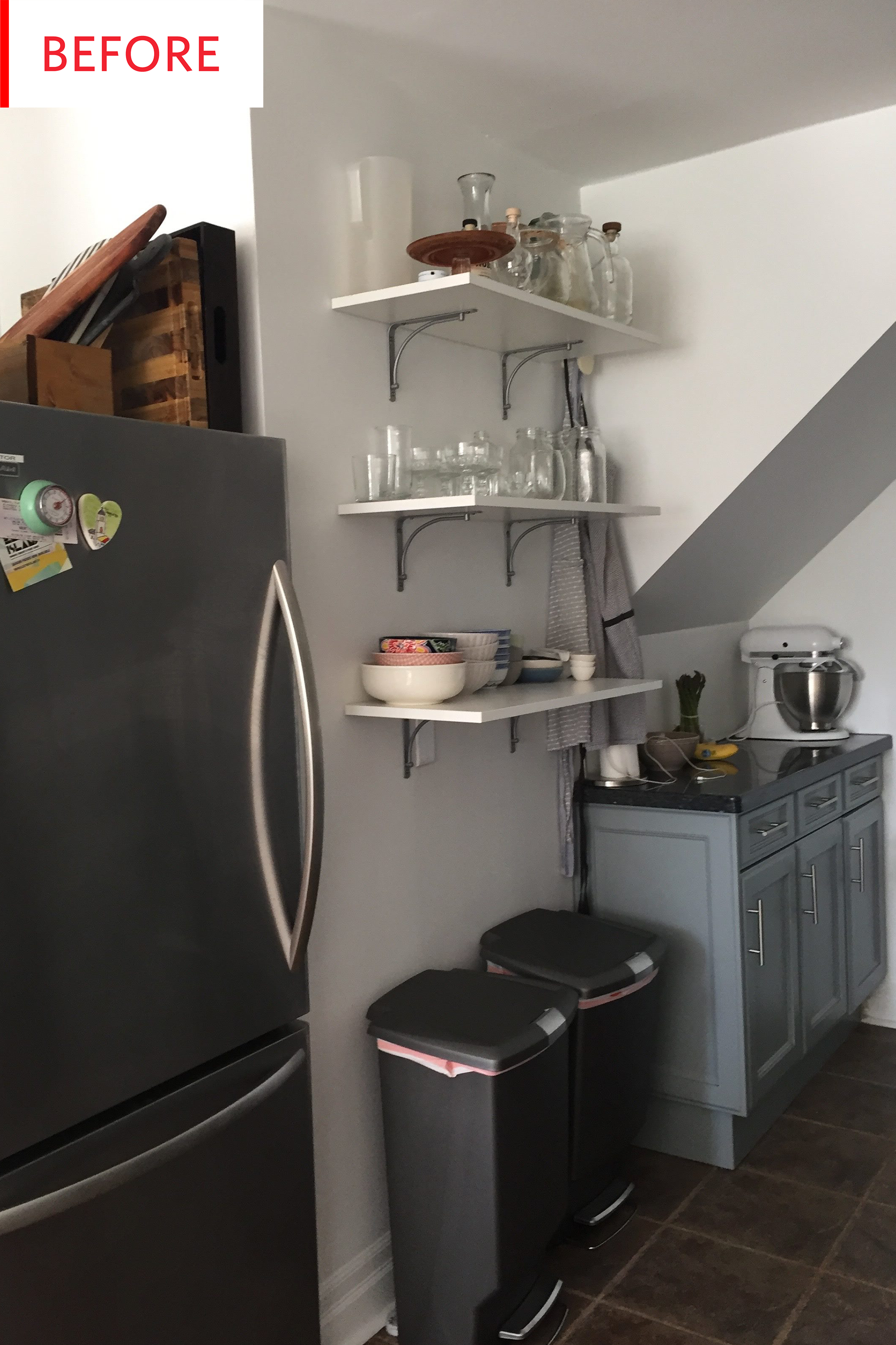 Before and After: This $350 Kitchen Redo Is Filled with Smart Rental Tricks