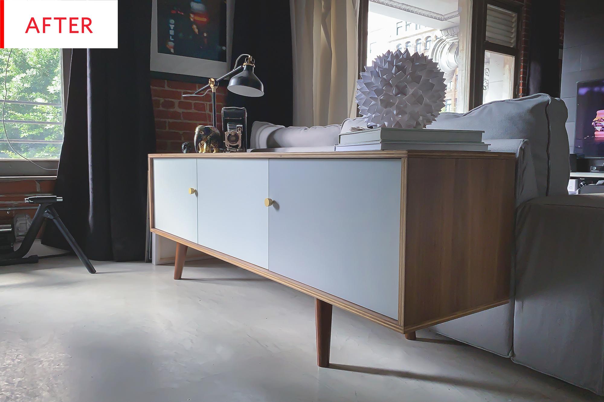 Ikea Besta Mid Century Modern Credenza Hack Photos Apartment Therapy