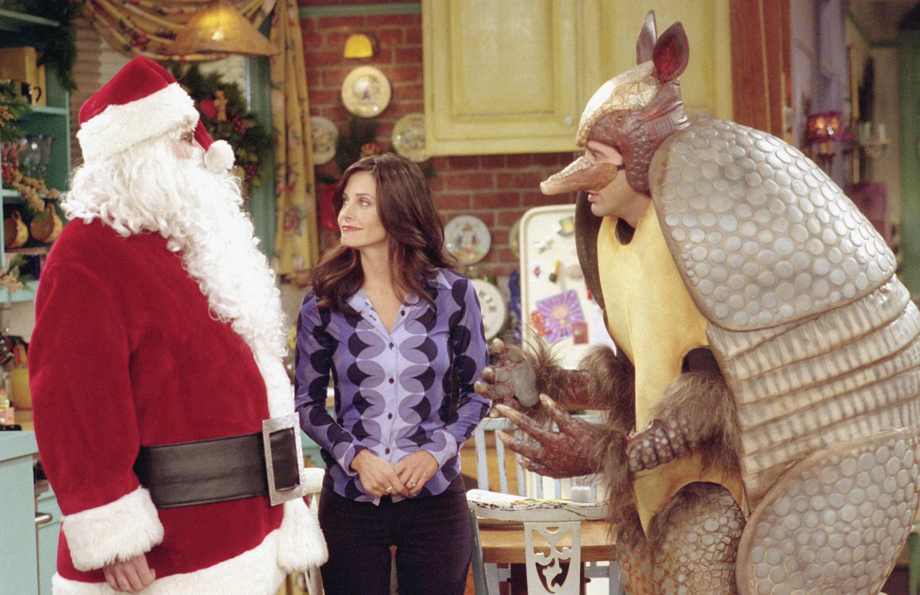 Christmas Armadillo Friends.The Best Friends Christmas Episodes Ranked Apartment Therapy