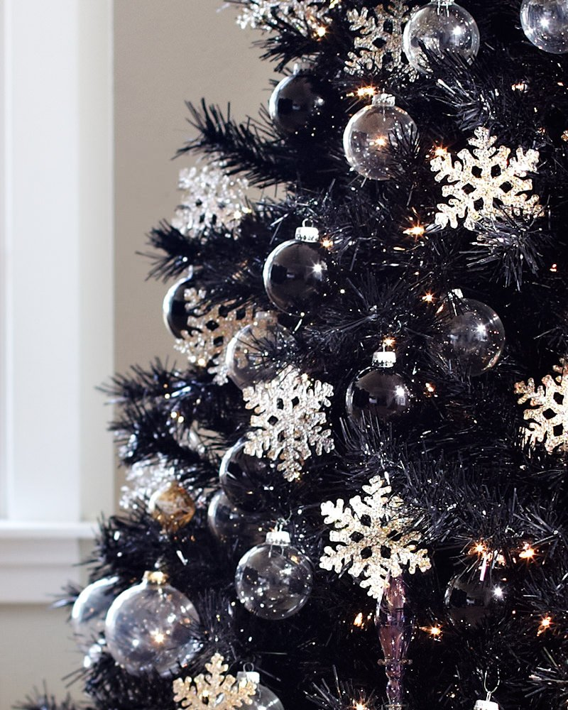 Black Christmas Ornaments.Treetopia Tuxedo Black Christmas Tree Review Apartment Therapy