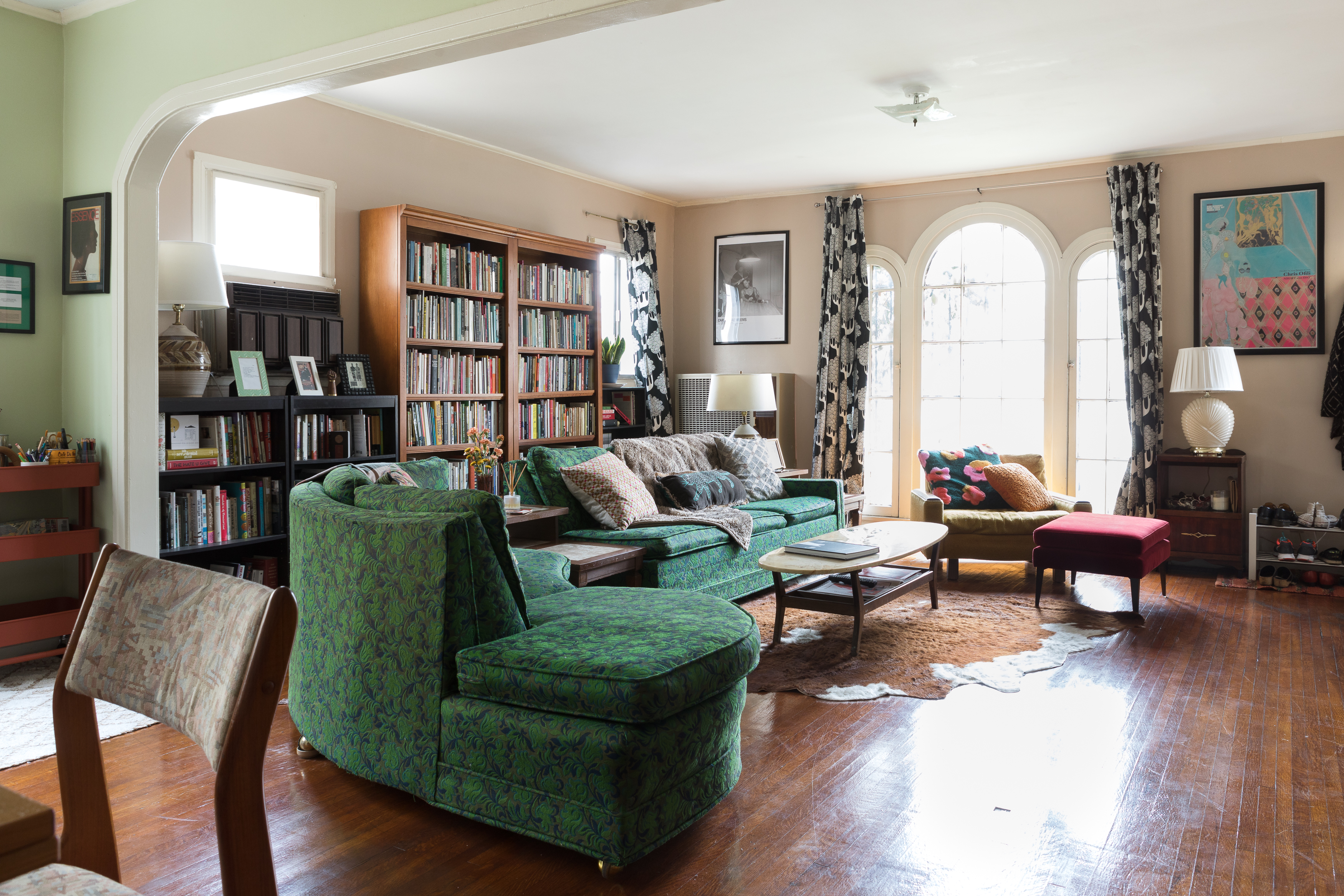 Poet Morgan Parker S La Apartment Features Great Art Cool Books And One Seriously Y Sectional