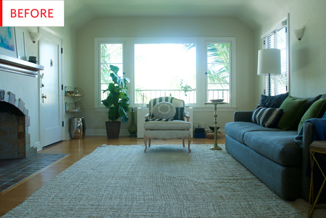 Before and After: Redecorating a Living Room in a 1920s Rental