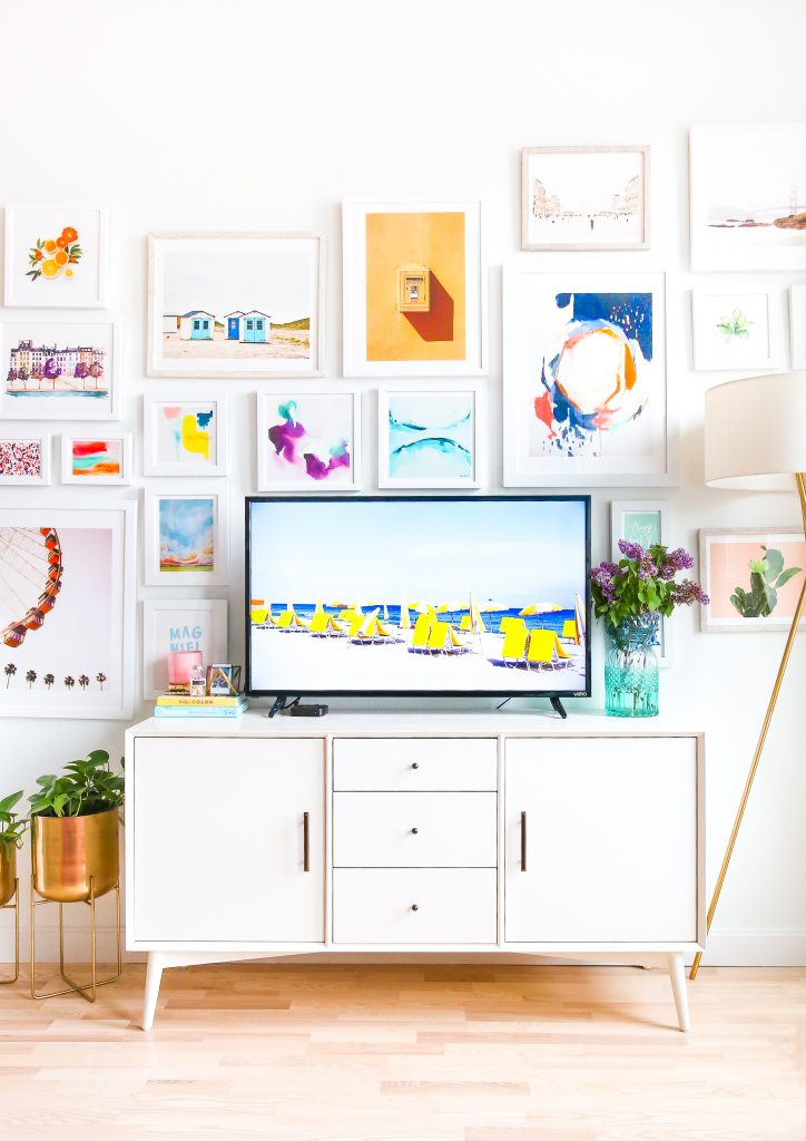 Here's the Secret to a Perfect TV Gallery Wall