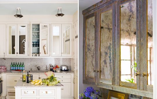 Mirrored Cabinets Check Your Hair While You Cook Kitchn