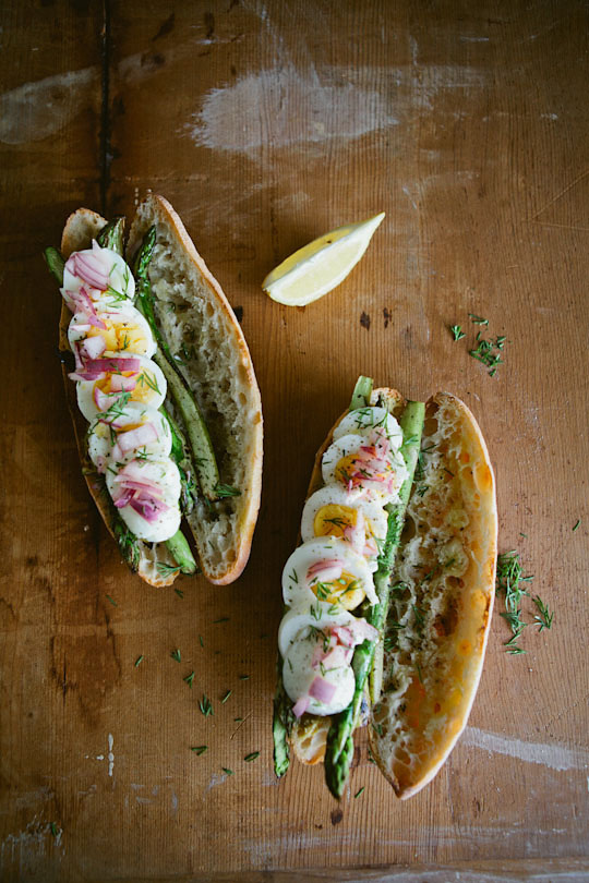 Recipe: Boiled Egg, Seared Asparagus & Pickled Onion Sandwich | Kitchn