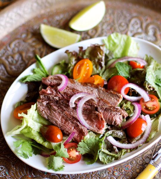 Recipe: Thai Grilled Steak Salad   Kitchn