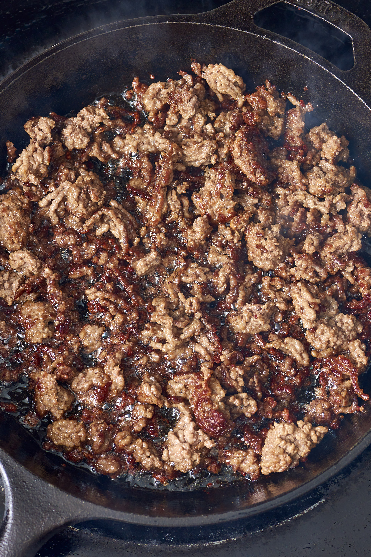 How to reheat frozen ground beef