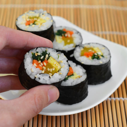 How To Make Gimbap: Korean Seaweed and Rice Rolls | Kitchn