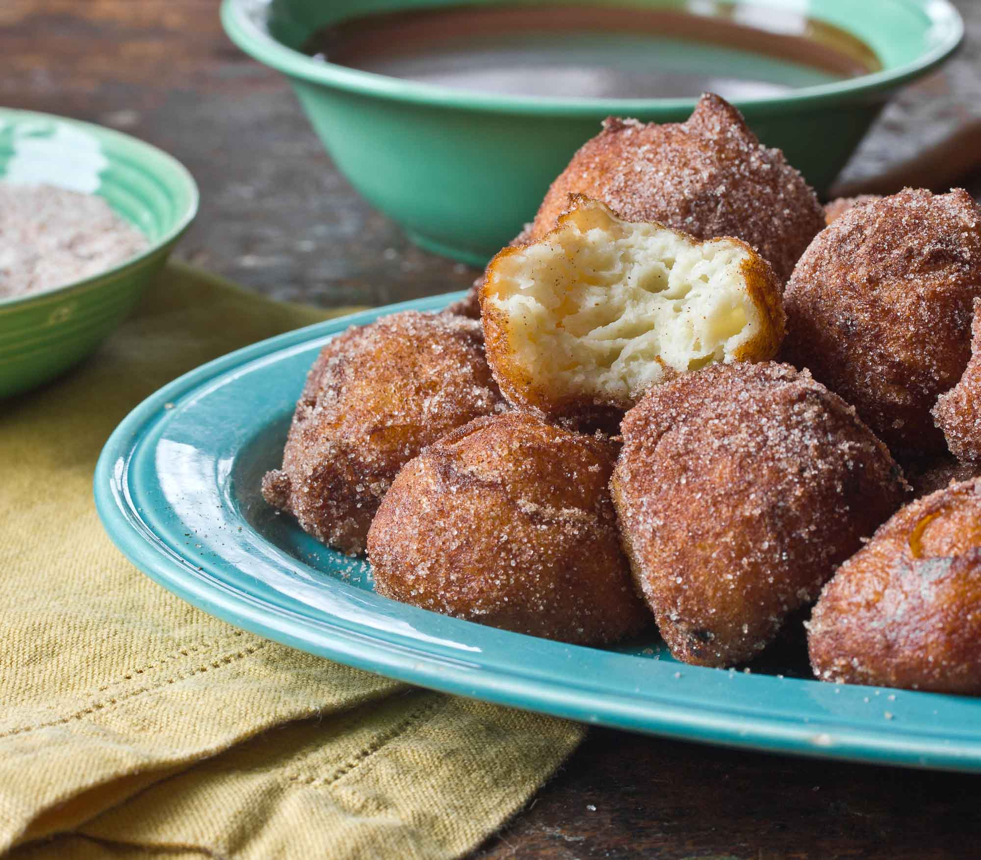 Dessert Recipe: Churros Balls With Warm Chocolate Dipping Sauce | Kitchn
