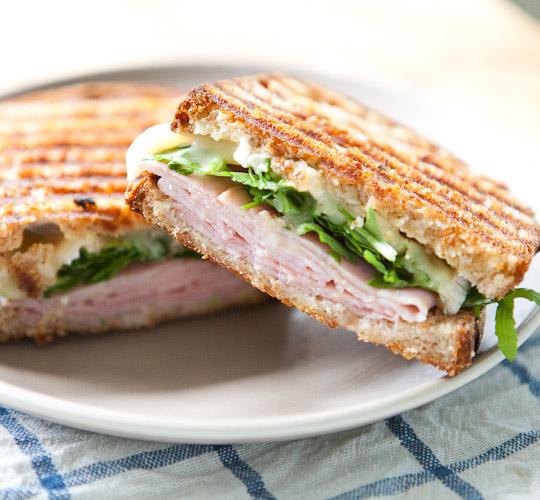 Recipe: Ham, Brie, Marmalade and Arugula Pressed Sandwich   Kitchn