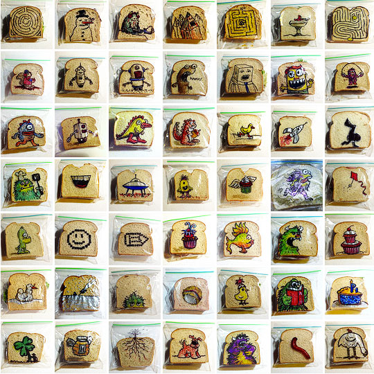 Look! 5 Years of Hand-Drawn Sandwich Bags by a Dedicated Dad | Kitchn