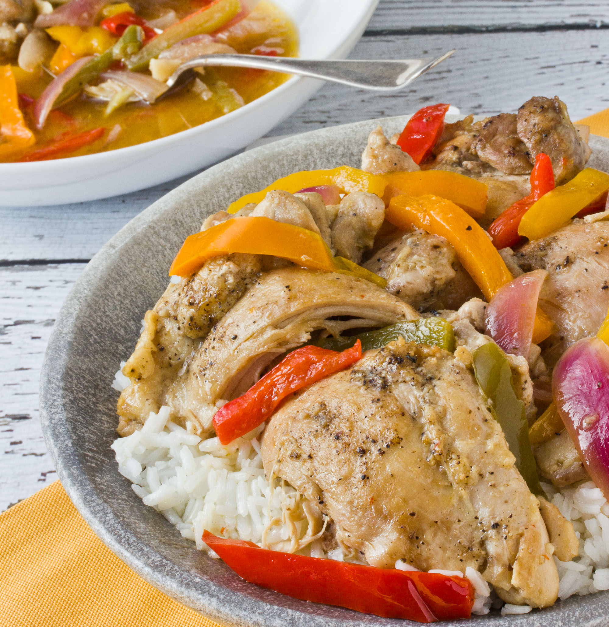 One-Pot Recipe: Braised Chicken Thighs with Bell Peppers and Onions | Kitchn