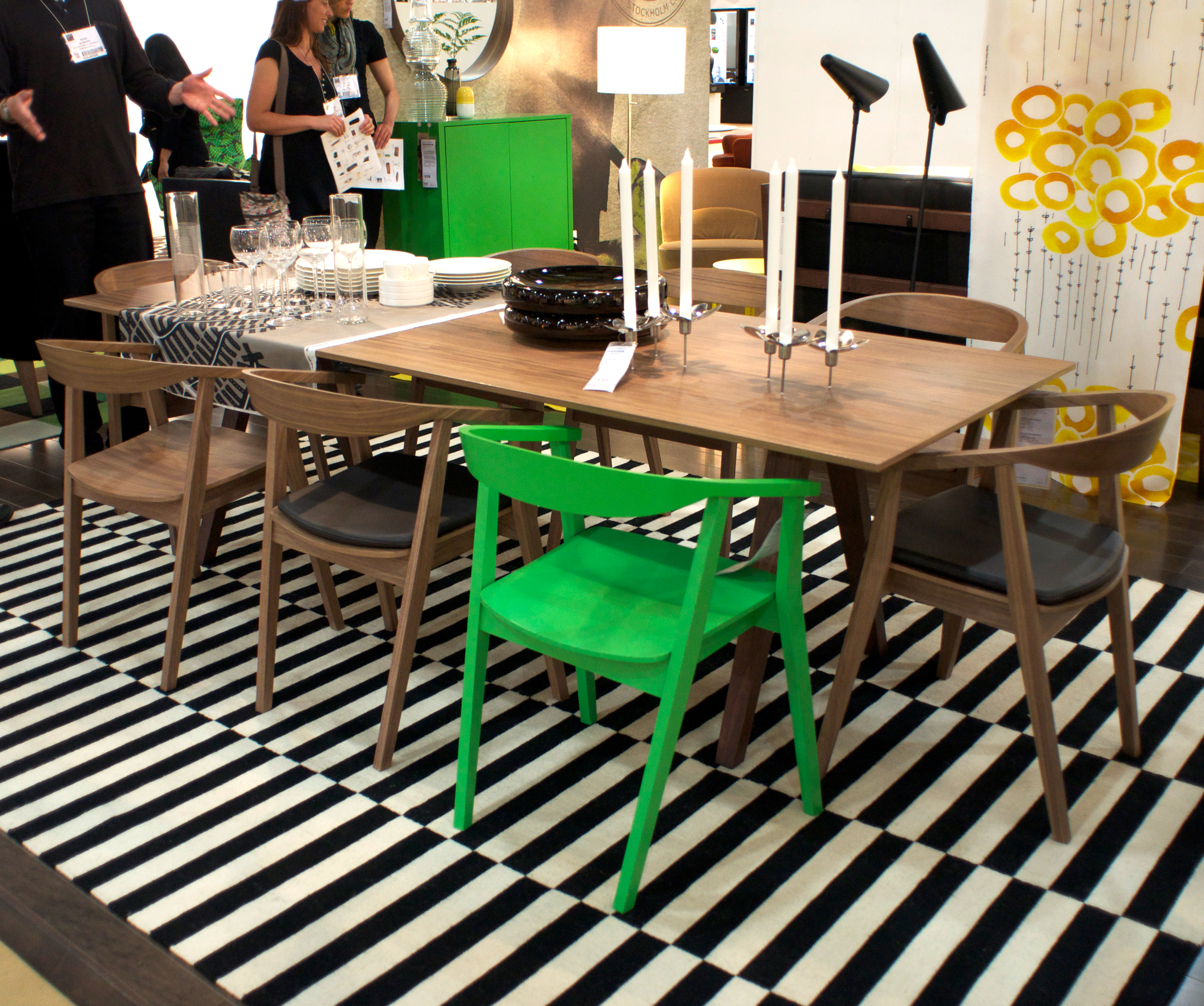 New From Ikea The Stockholm Table And Chairs Coming In