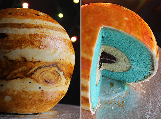 Baking For Geeks: Learn How To Make a Cake That Looks Like Jupiter | Kitchn